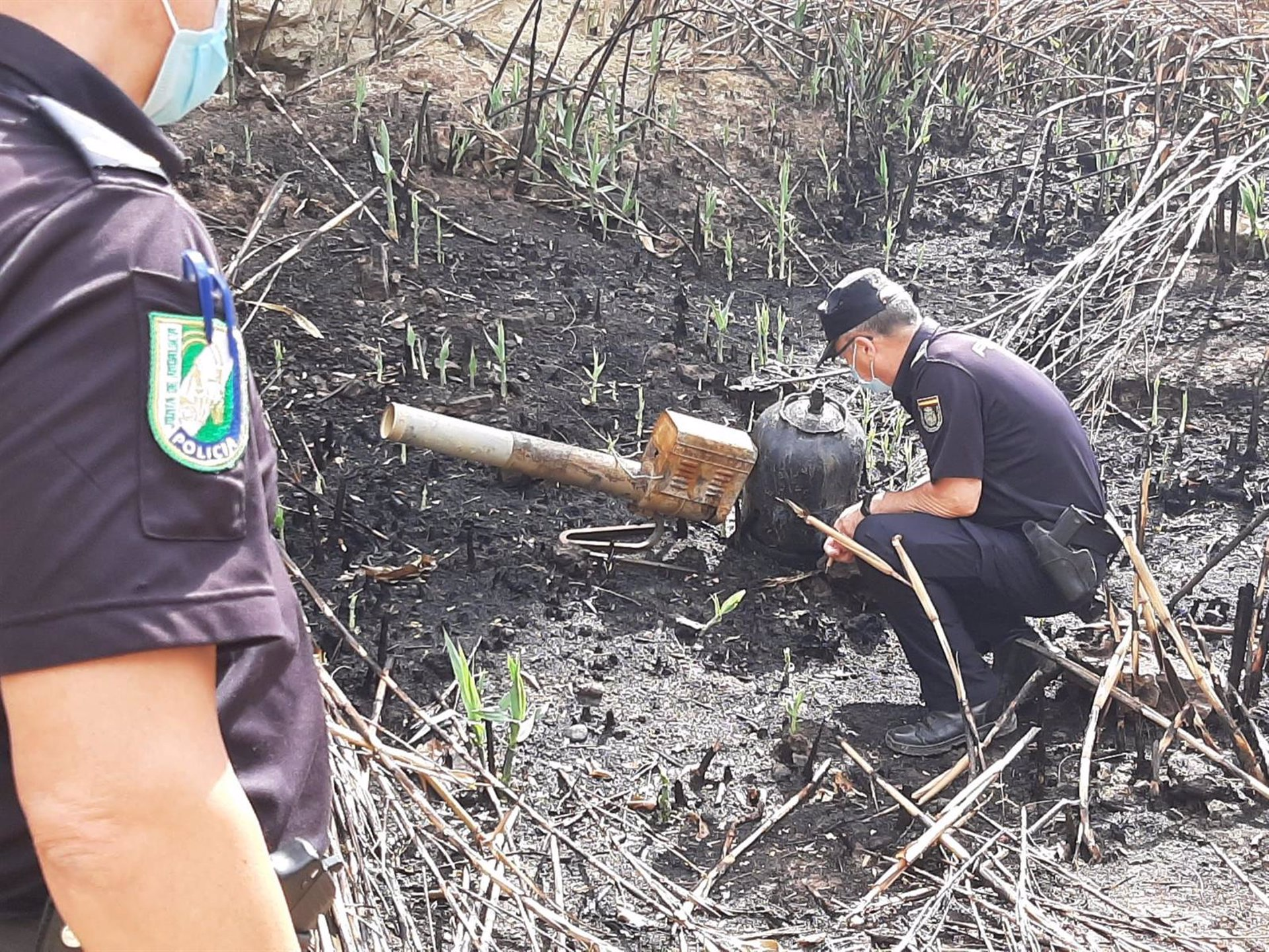 A disposición judicial el presunto autor del incendio en Cortés de Baza que afectó a cuatro hectáreas