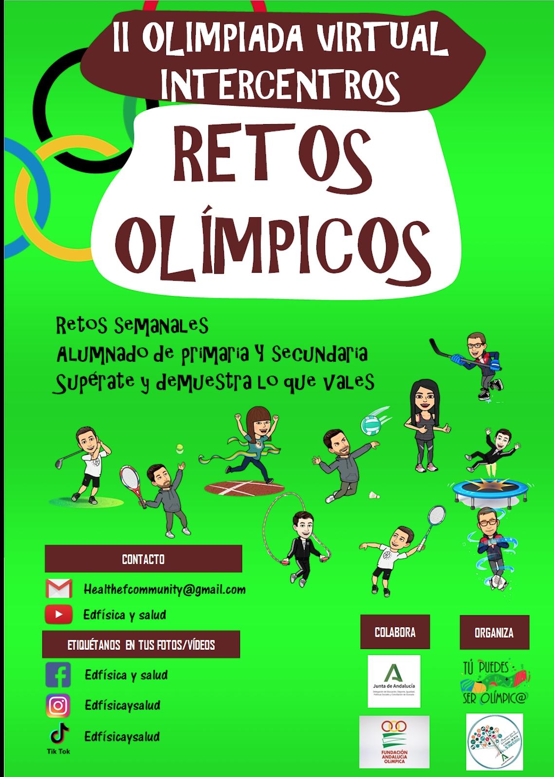 La Delegación de Educación y Deporte impulsa la II Olimpiada Virtual Intercentros