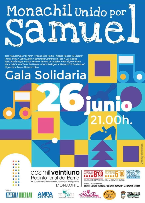 Monachil organiza una gala benéfica para ayudar al pequeño Samuel, un niño de 4 años con un tumor cerebral