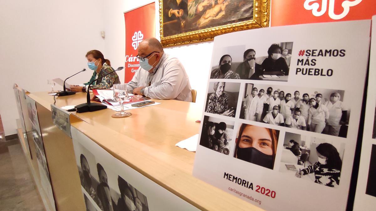 Cáritas invirtió 6,2 millones de euros en 2020 en ayudar a 8.000 personas en Granada