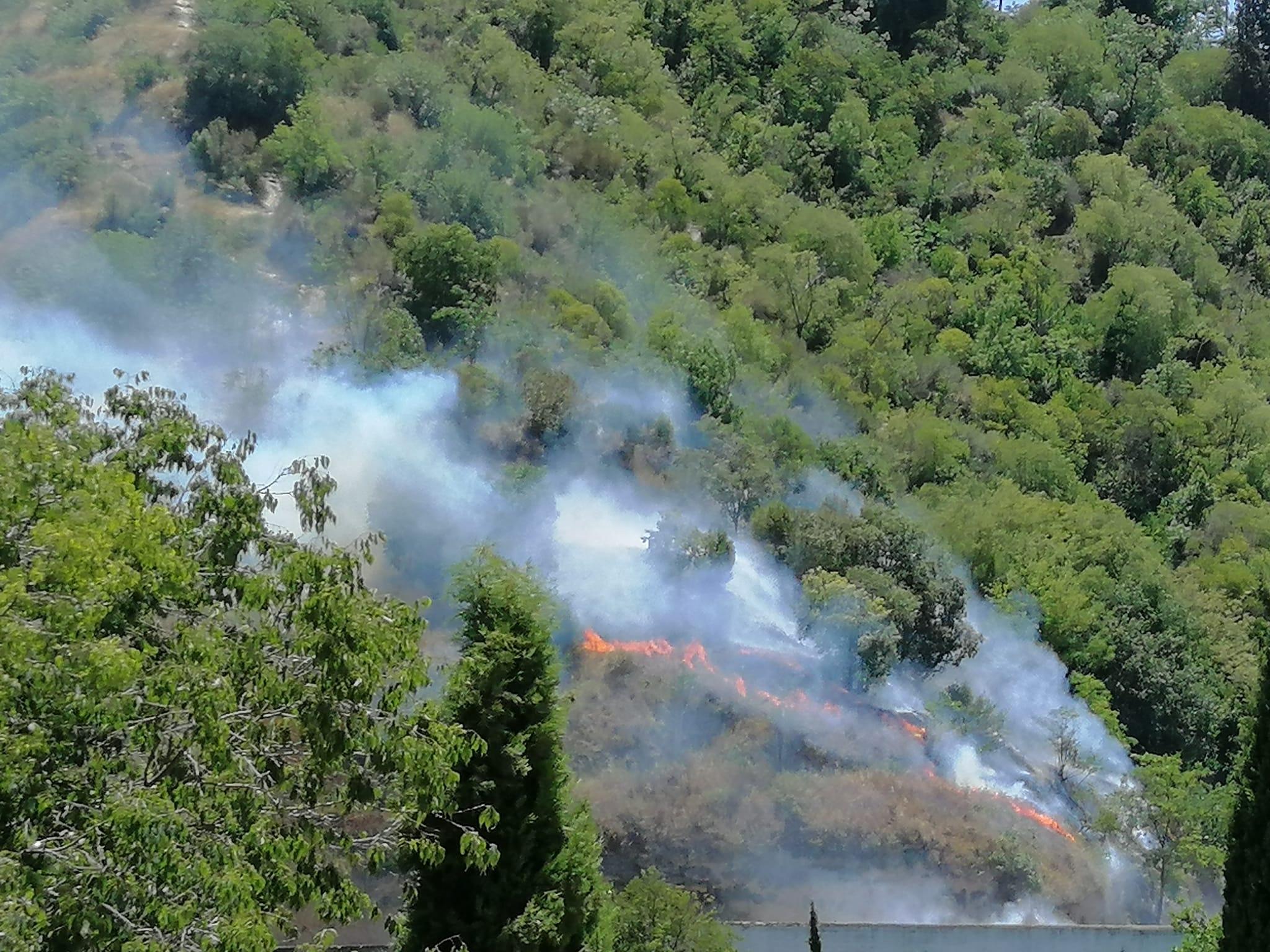 Declarado un incendio en la Silla del Moro
