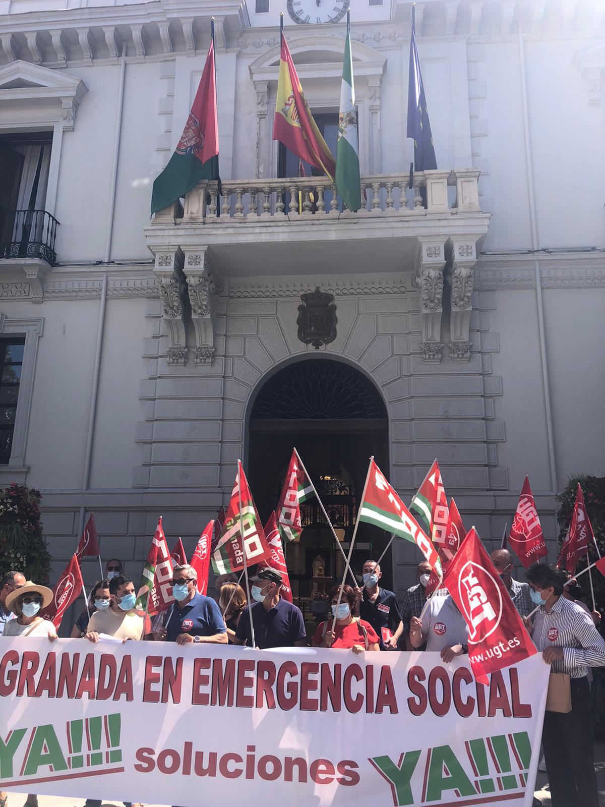Continúan las protestas por la inacción y falta de respuesta del Ayuntamiento de Granada ante el Plan de Emergencia Social