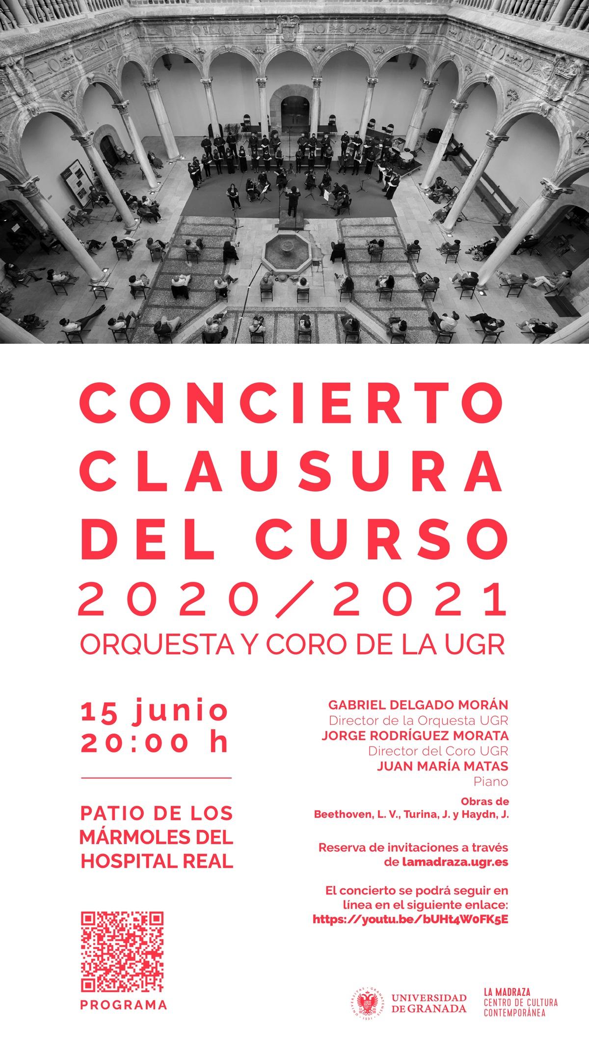 La Orquesta y el Coro de la Universidad de Granada interpretan a Beethoven, Turina y Haydn en el concierto de clausura del curso 2020-2021
