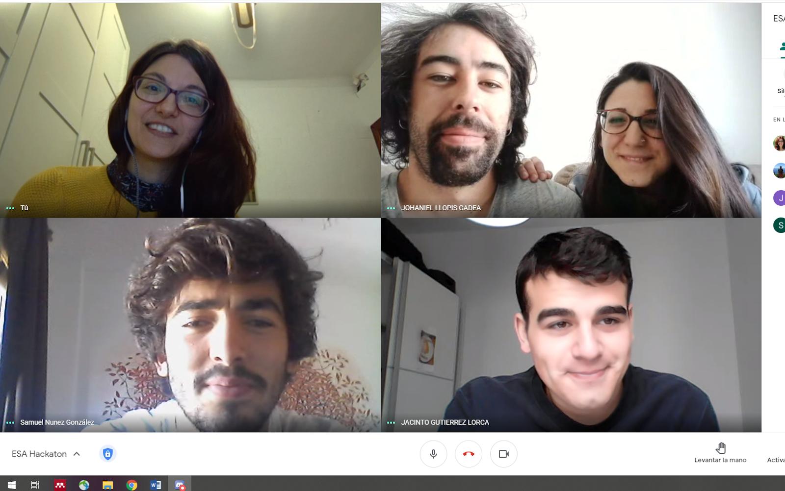 """El """"Team Granada"""" de la Facultad de Ciencias Políticas y Sociología de la UGR ganador del primer ESA Hackathon"""