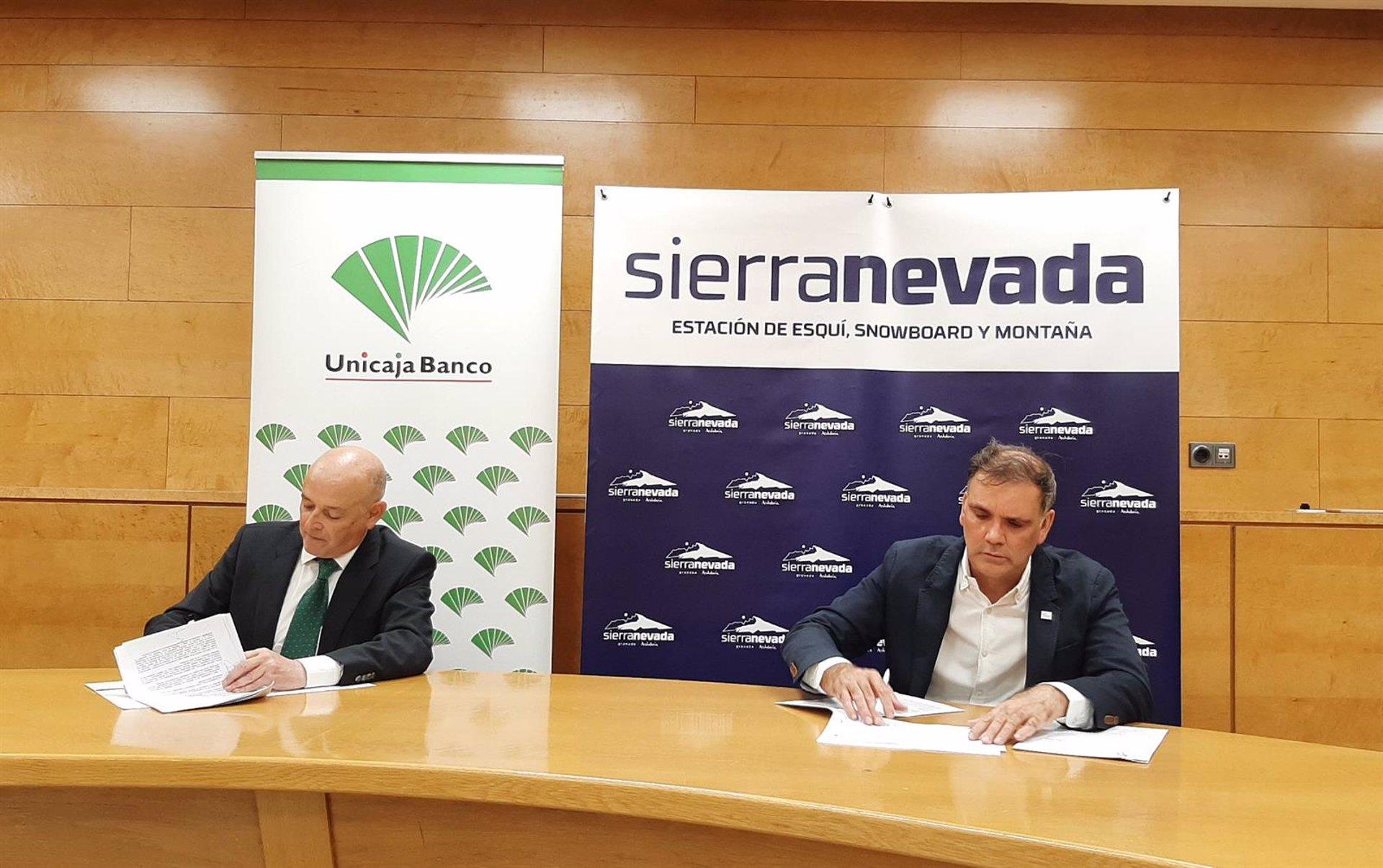 Unicaja Banco reafirma su apoyo como patrocinador oficial de la estación de esquí y montaña de Sierra Nevada