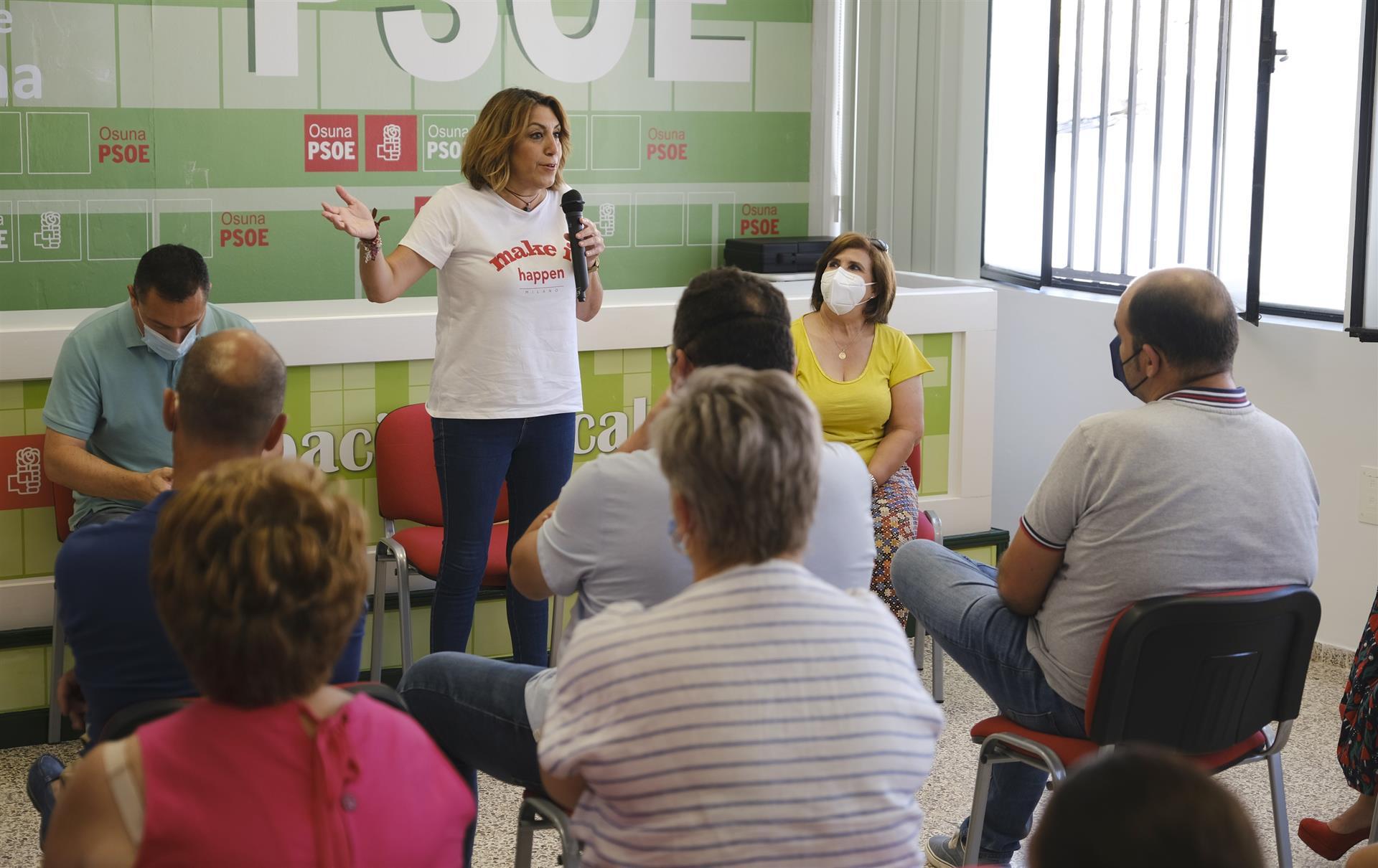 Díaz pide «escribir la historia de Andalucía desde Andalucía» y cree que «vamos a ganar, unir el partido y a gobernar»