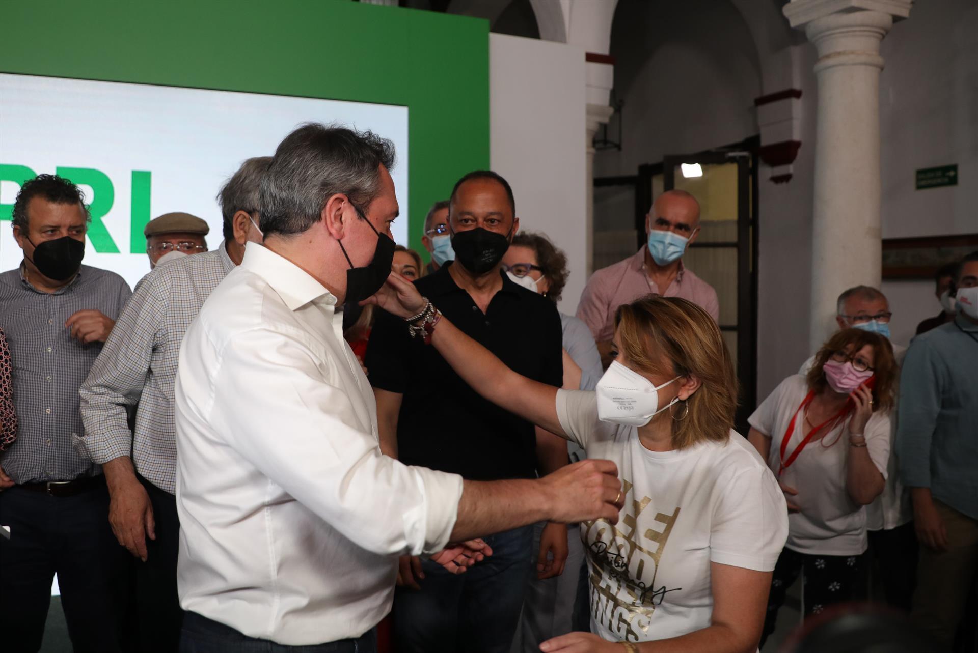 Espadas, convencido de tener la «colaboración» de Susana Díaz porque su triunfo en las primarias «no deja lugar a dudas»