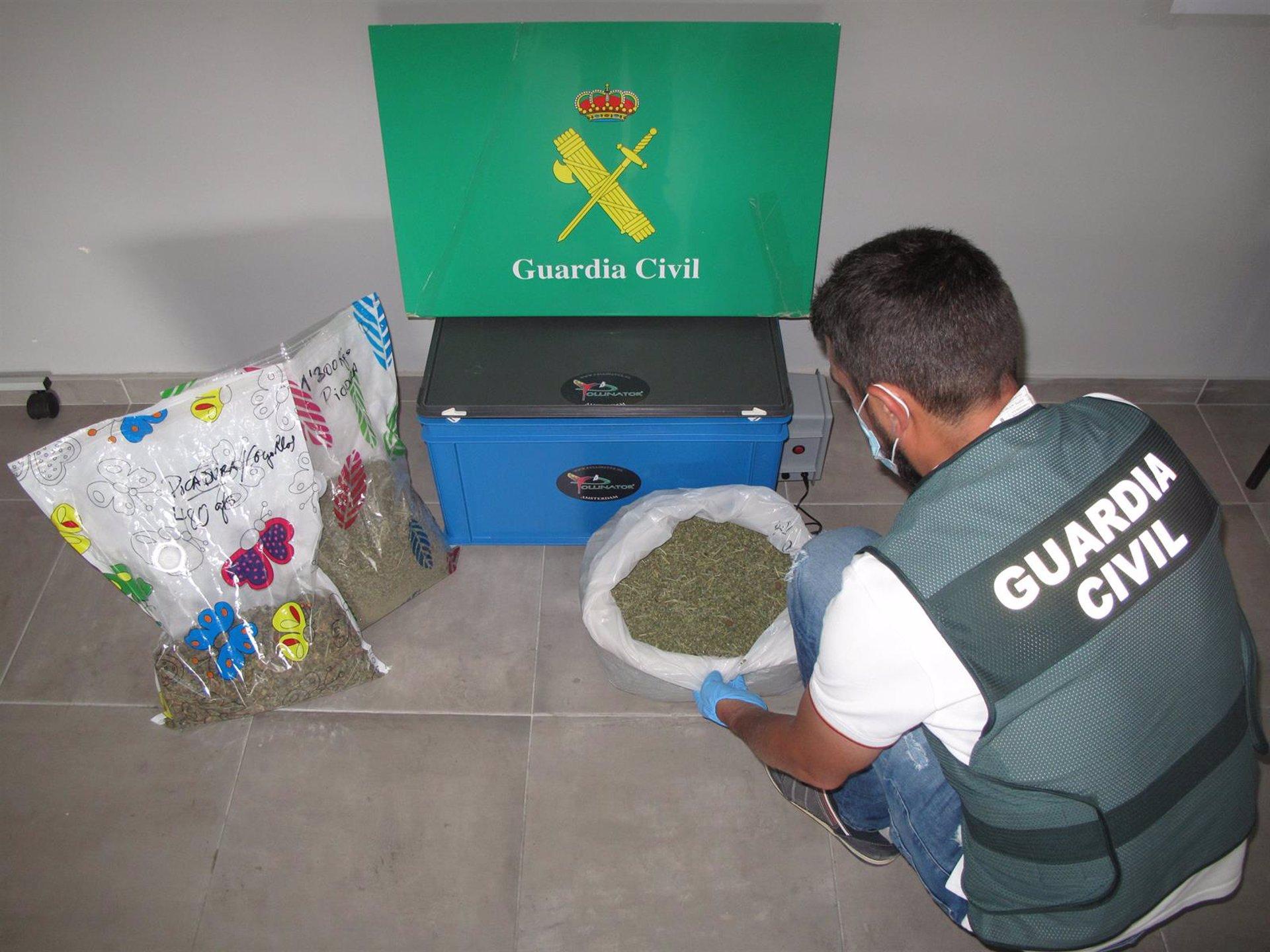 Intervenidos más de diez kilos de marihuana en dos operaciones en Atarfe e Híjar
