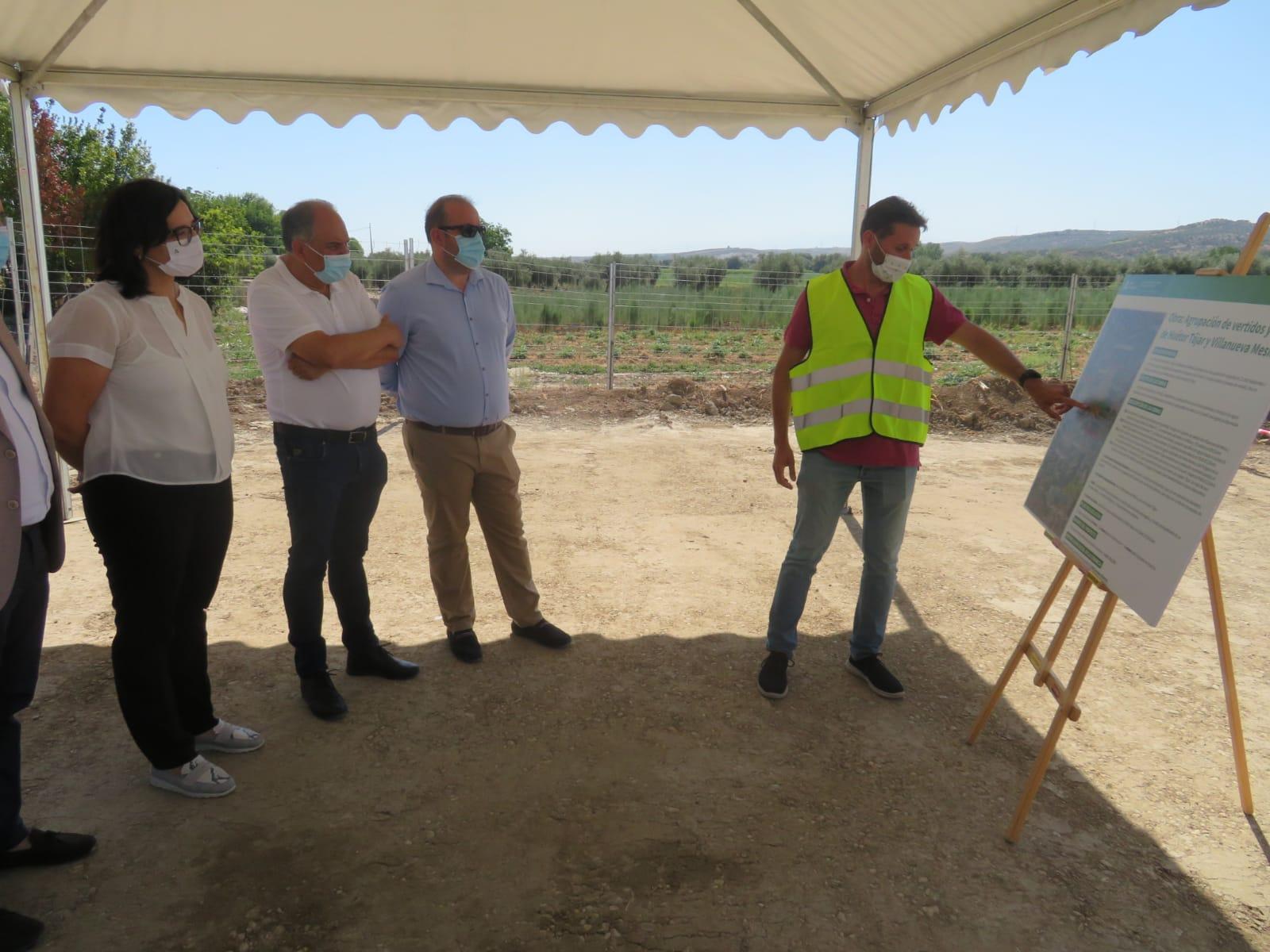 Comienzan las obras de la Agrupación de Vertidos y EDAR de Huétor Tájar con una inversión de más de 5 millones