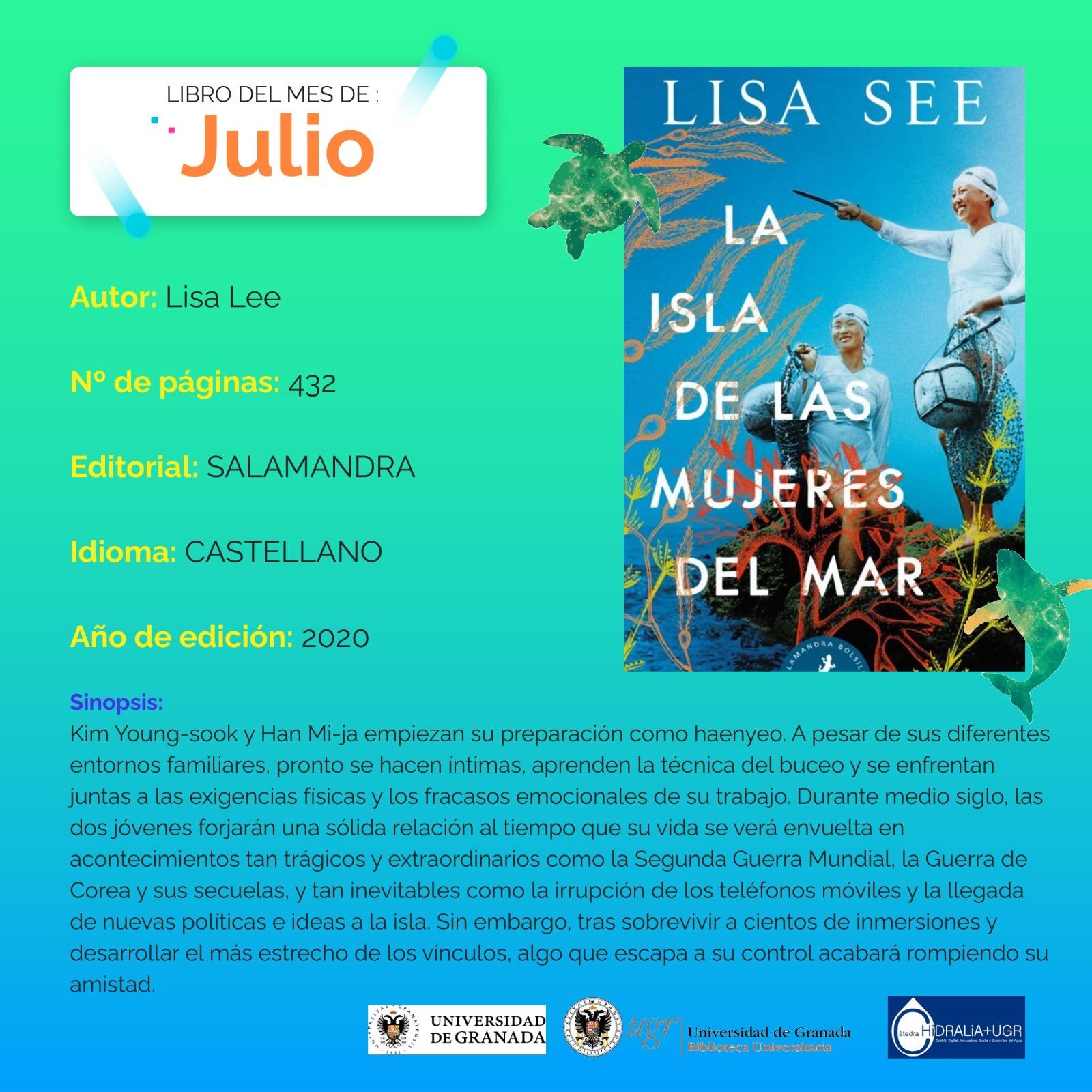 """El club de lectura #ODSBooks recomienda en julio el libro """"La isla de las mujeres del mar"""""""