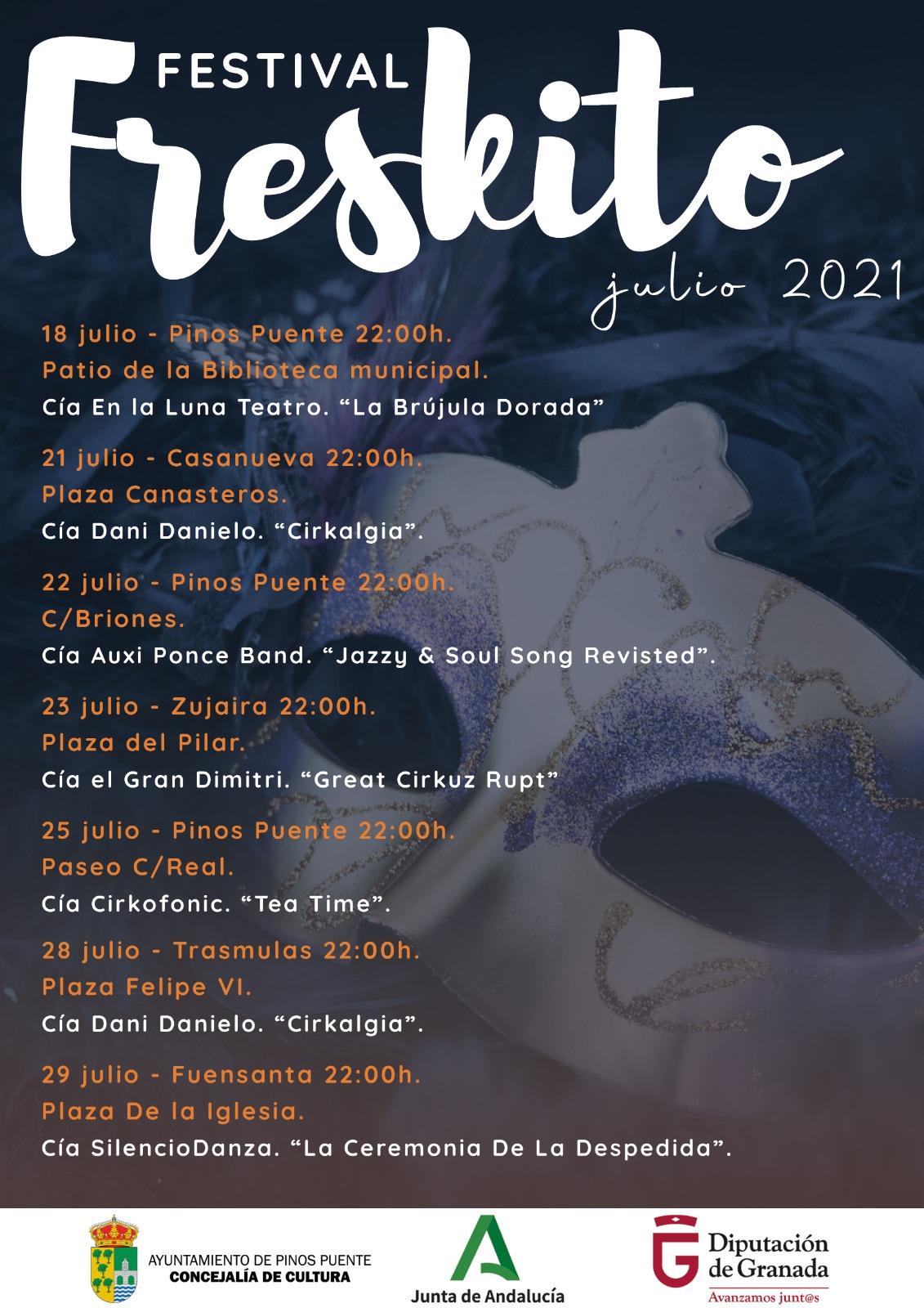 El festival Al Freskito vuelve a Pinos Puente a partir de este domingo