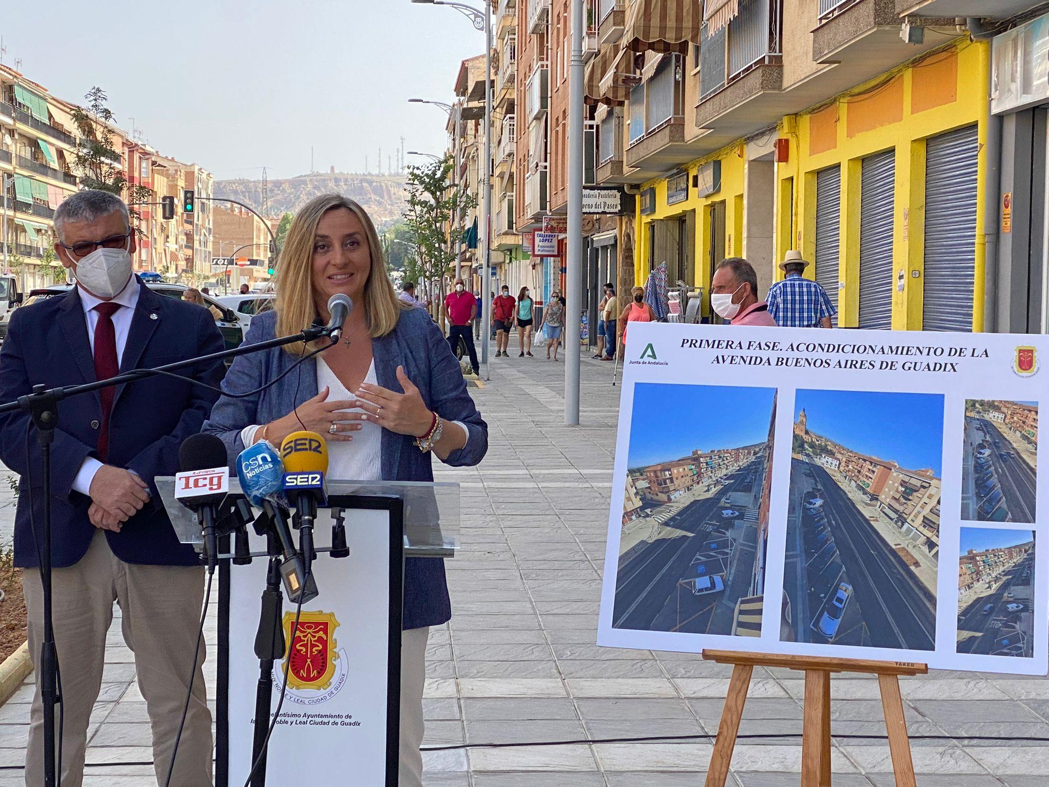 Finalizada la primera fase de la remodelación de la avenida Buenos Aires de Guadix
