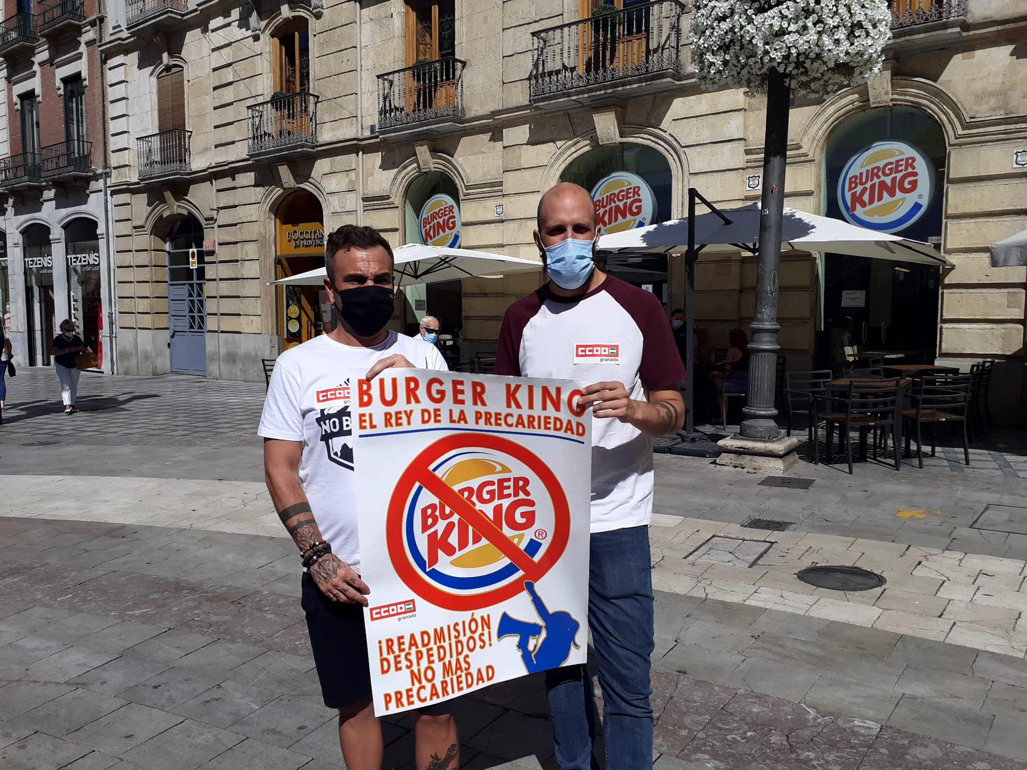 CCOO denuncia la situación de vulnerabilidad y desamparo en la que se encuentran dos trabajadores de Burger King despedidos ilegalmente