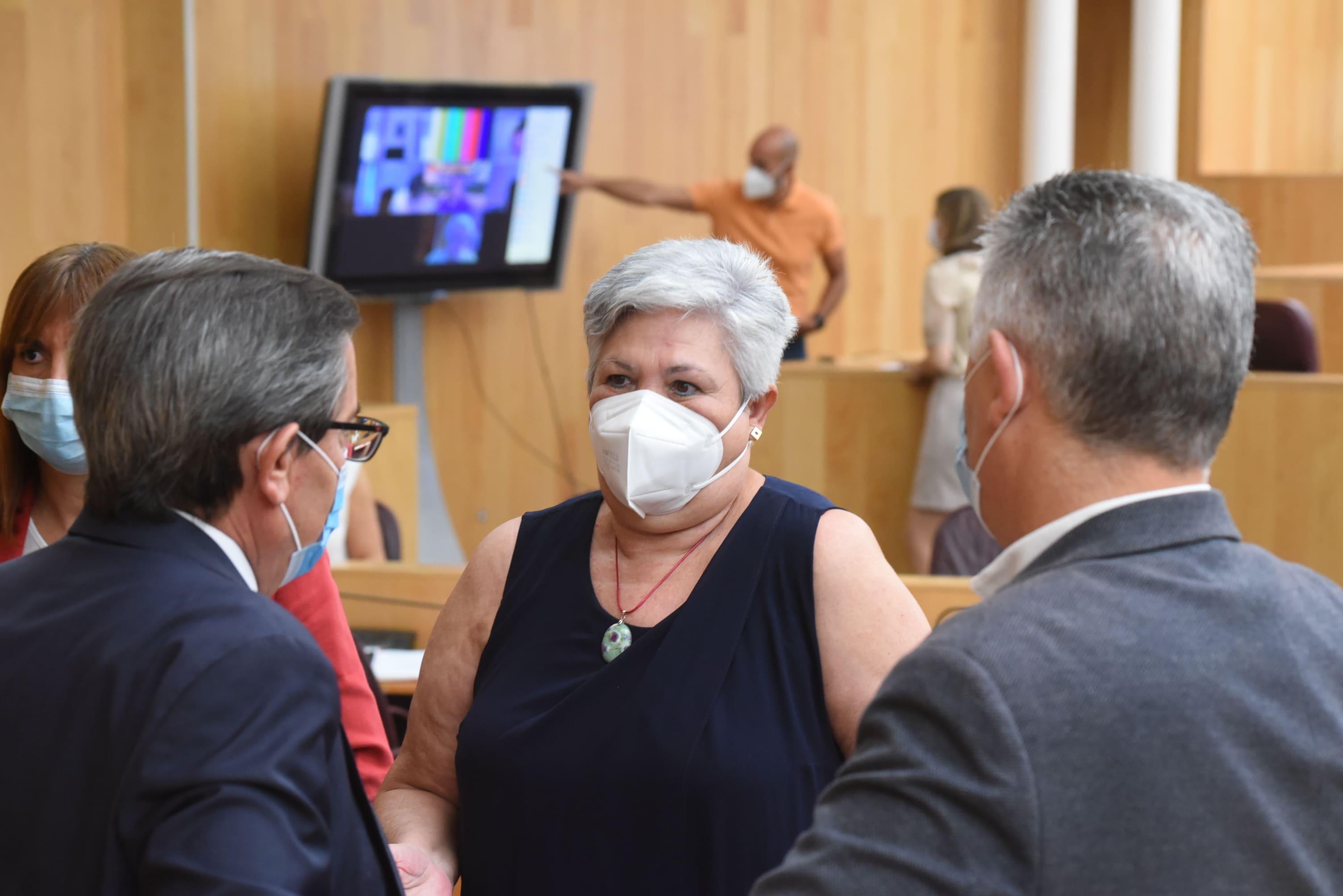 El pleno de la Diputación toma conocimiento de la renuncia de María Ángeles Blanco como diputada provincial