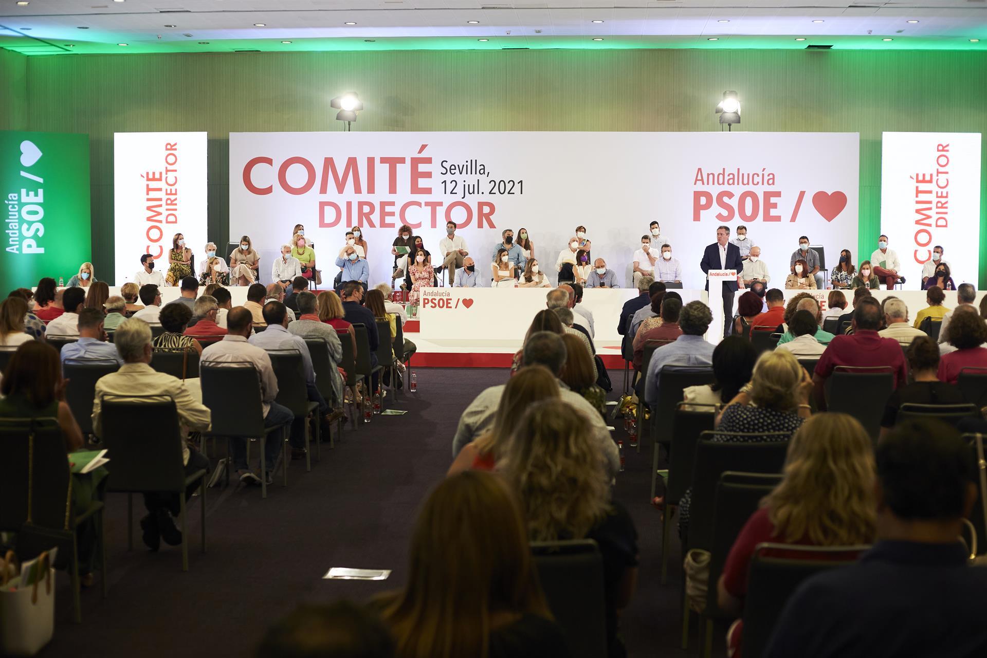 El PSOE-A ciñe a este martes el plazo de presentación de precandidaturas a su Secretaría General