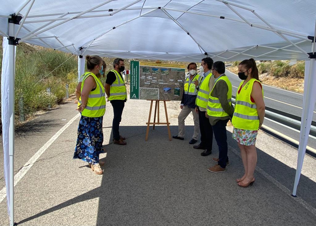 Iniciadas las obras de corrección de los deslizamientos de la A-438 en Cádiar