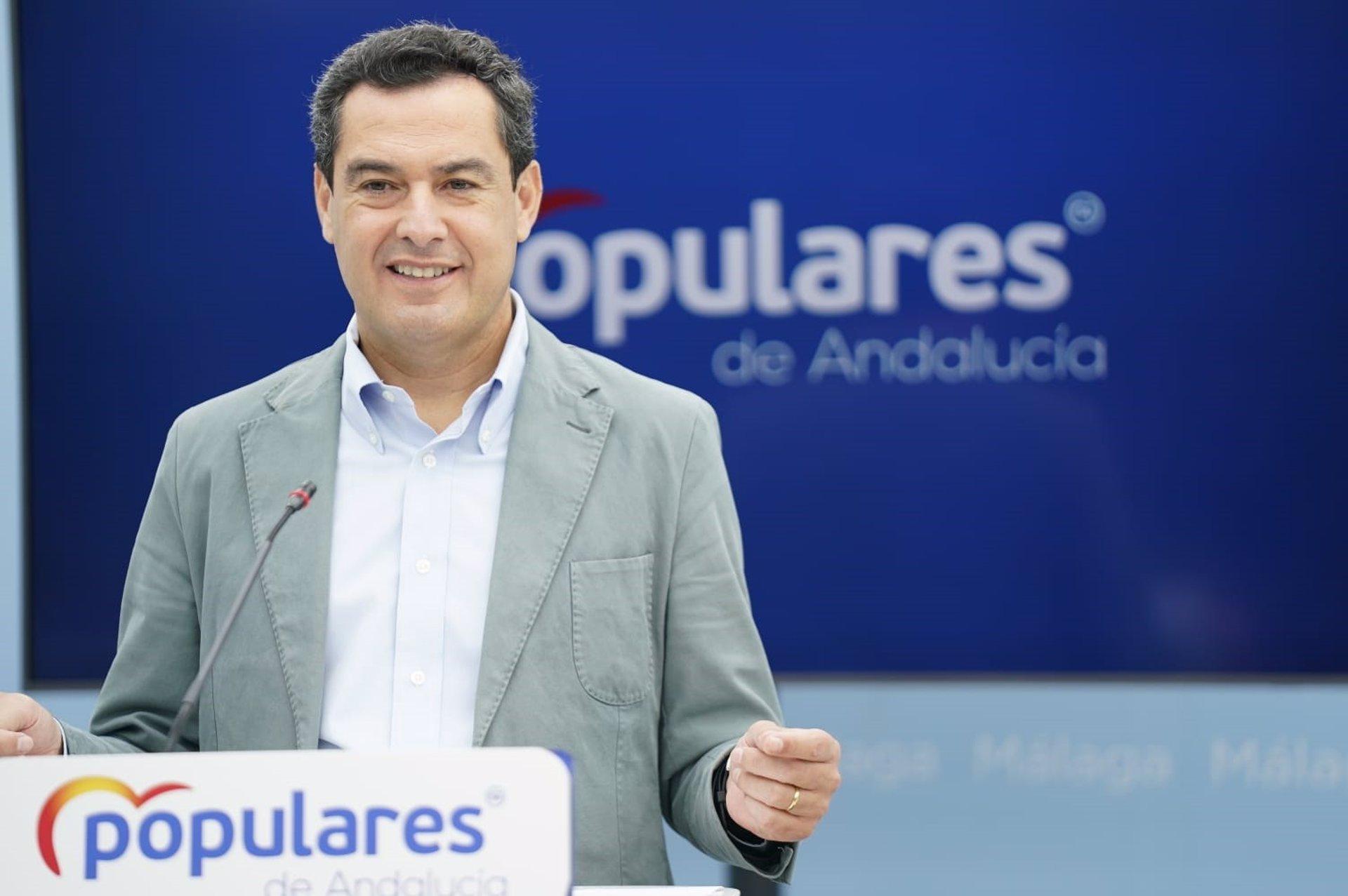 Moreno asegura que no tiene «presión» alguna de Casado sobre la fecha de elecciones andaluzas: «Esa decisión la tomo yo»
