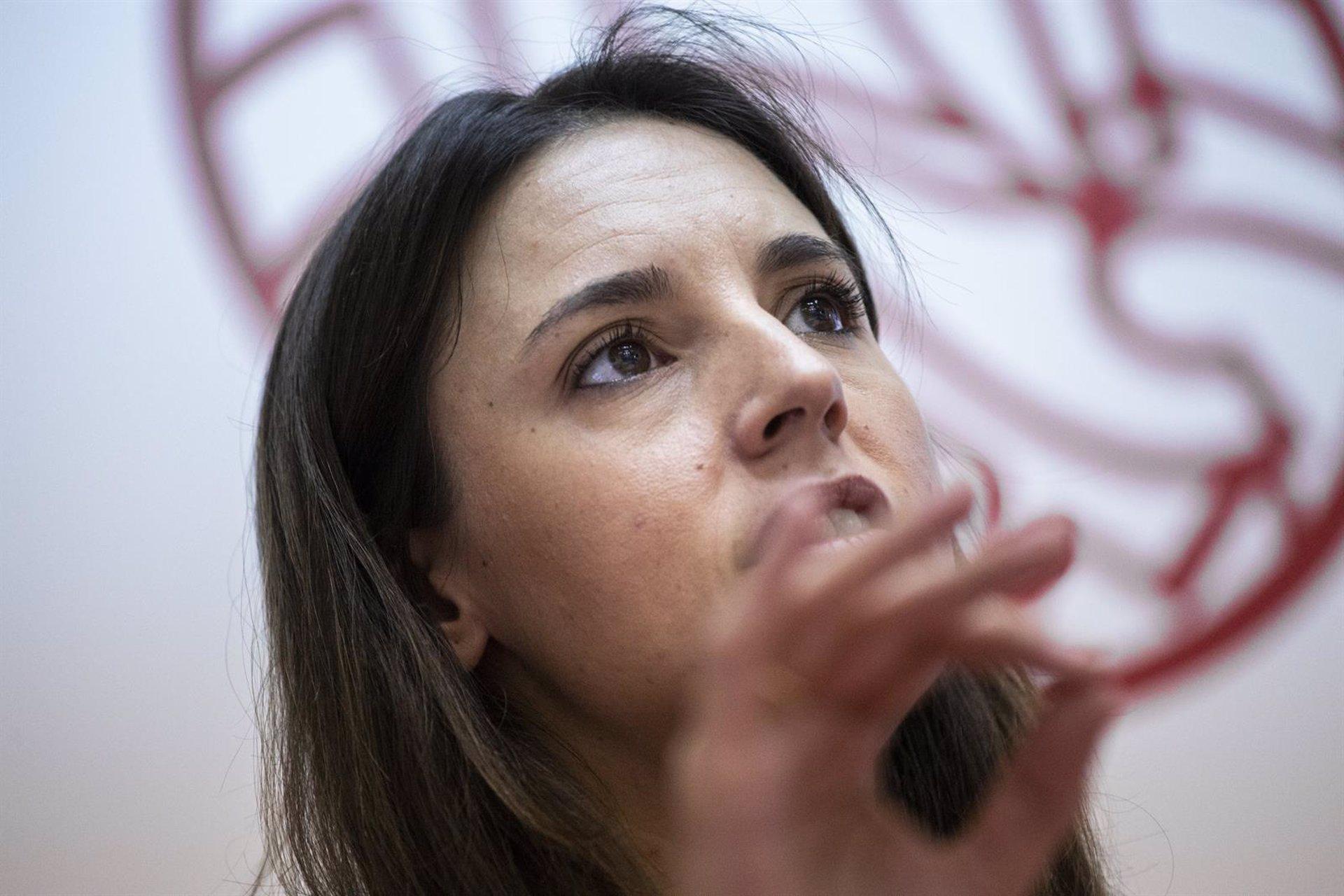 Irene Montero: «Si Juana Rivas ingresa en prisión va a ser un escándalo para el movimiento feminista»