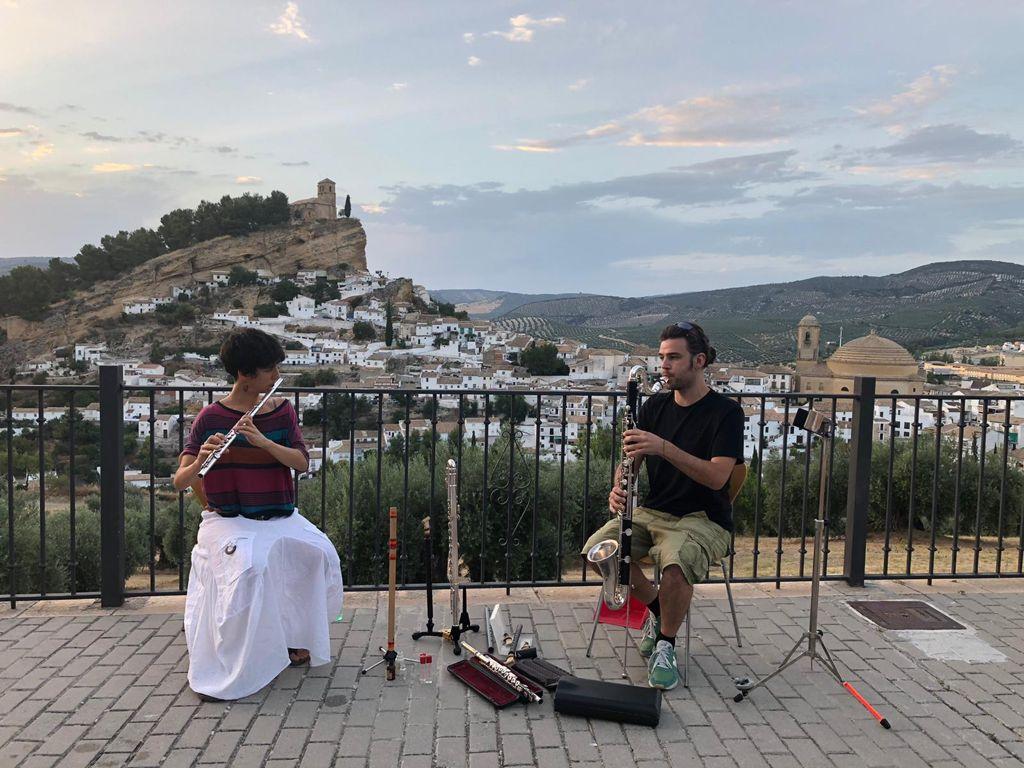 Roko y El Alquimista Loco de Celtas Cortos, en el III Festival de músicas de viento 'Ventolera' de Montefrío