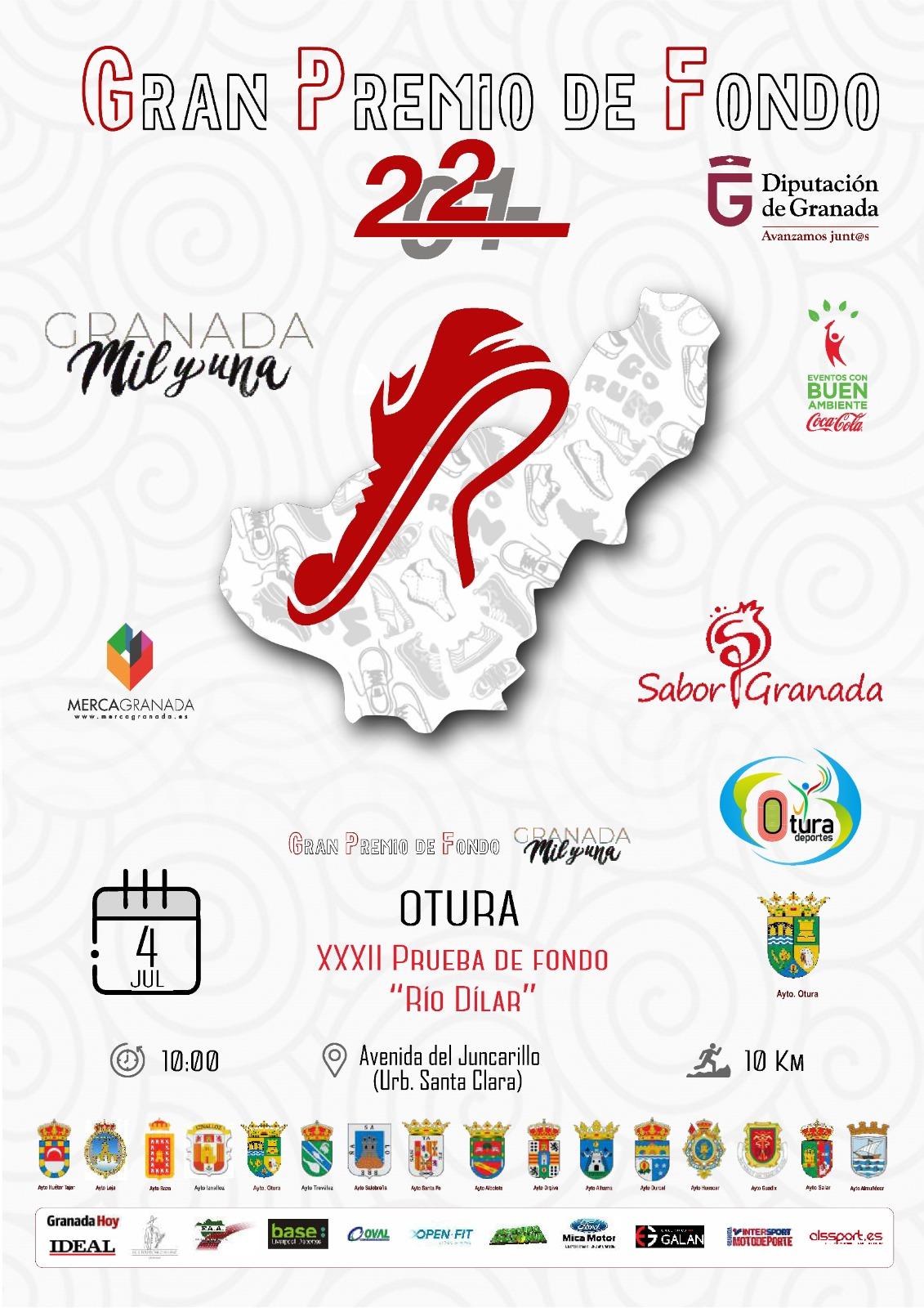 400 corredores participarán en la XXXII Prueba de Fondo 'Río Dílar' en Otura