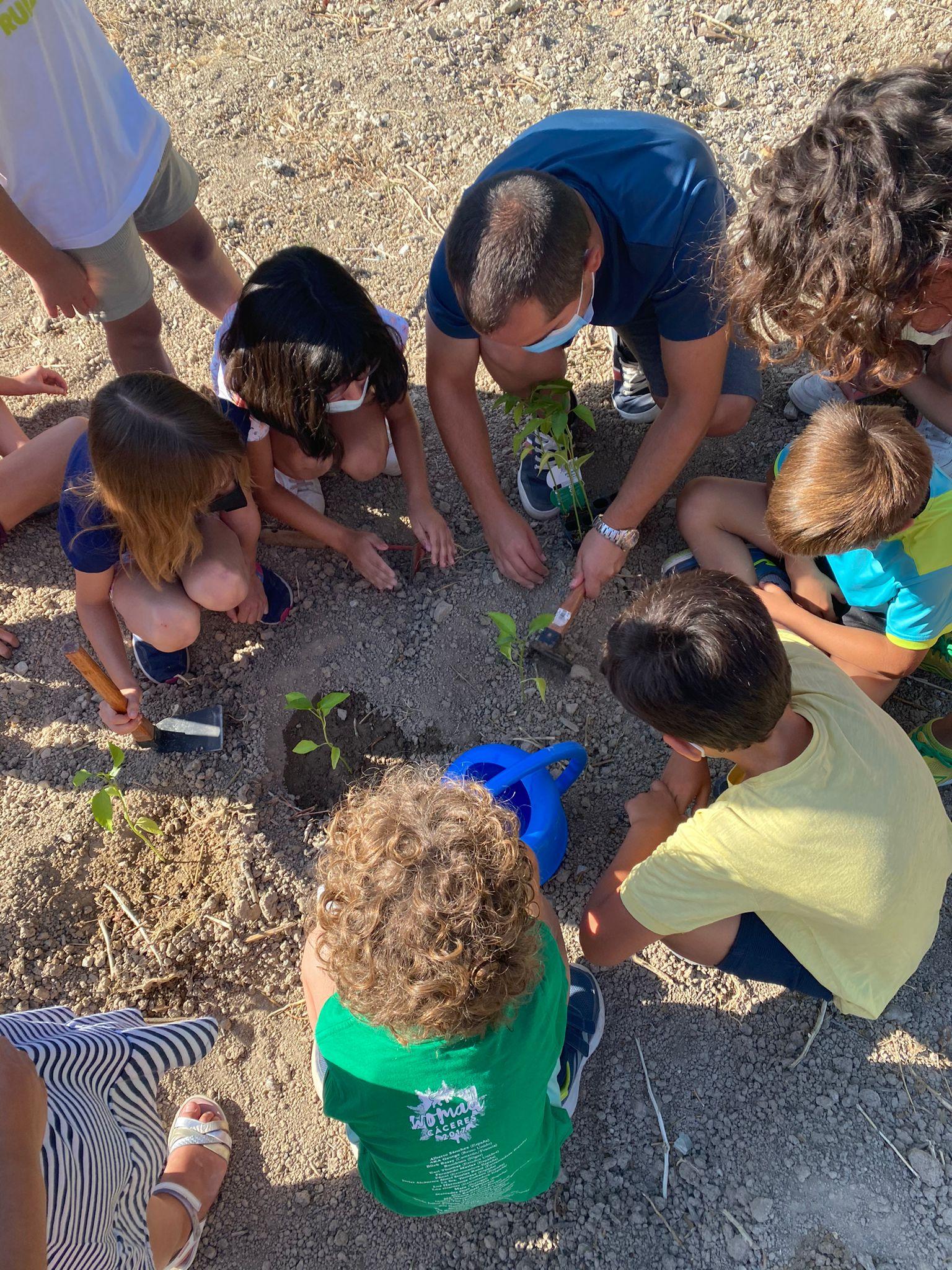 Los alumnos de la escuela de verano de Huétor Tájar disfrutan de actividad medioambientales