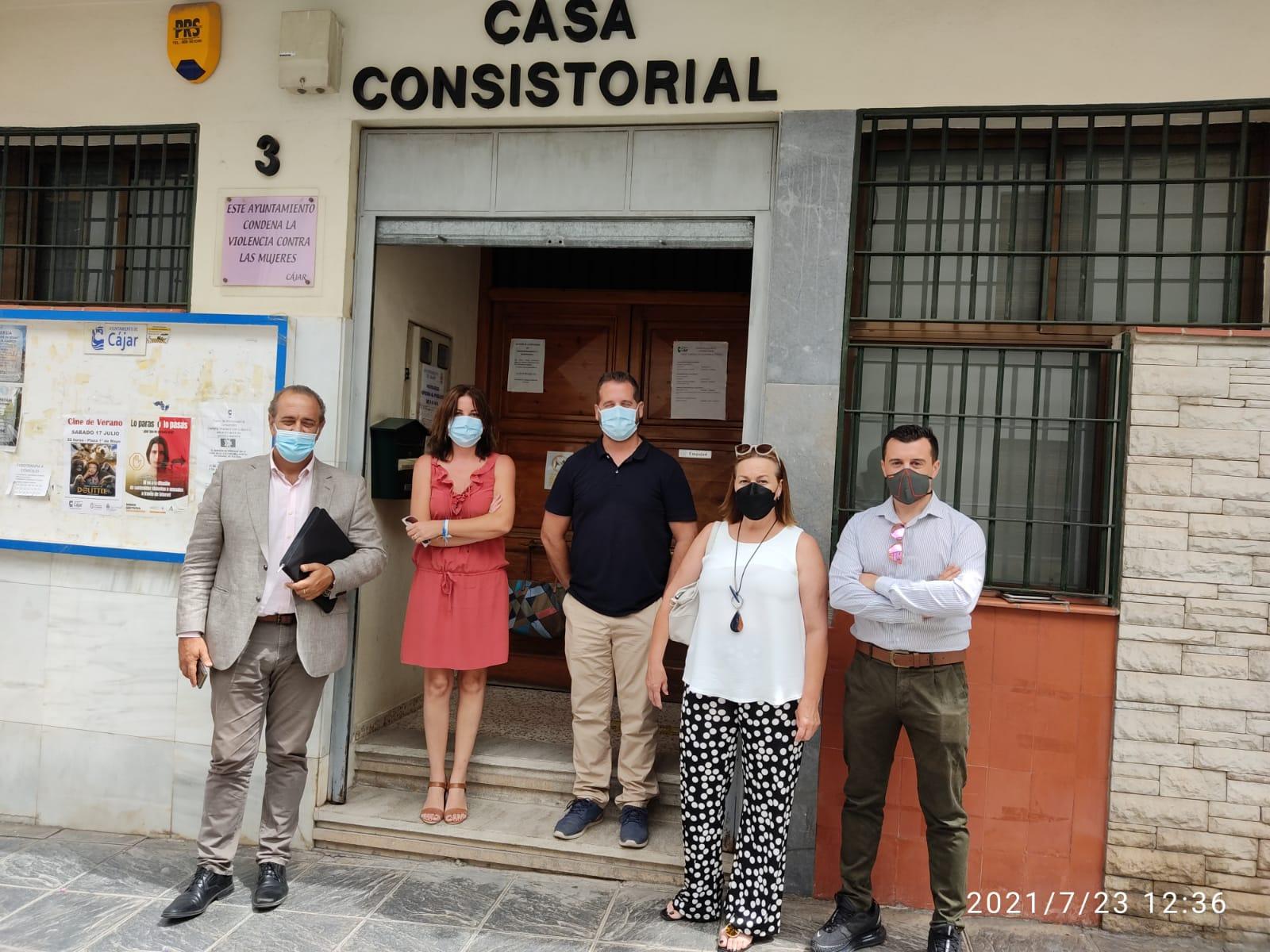 Invierten 74.500 euros en Cájar para reparar los daños de la DANA y cofinanciar las obras del PFEA
