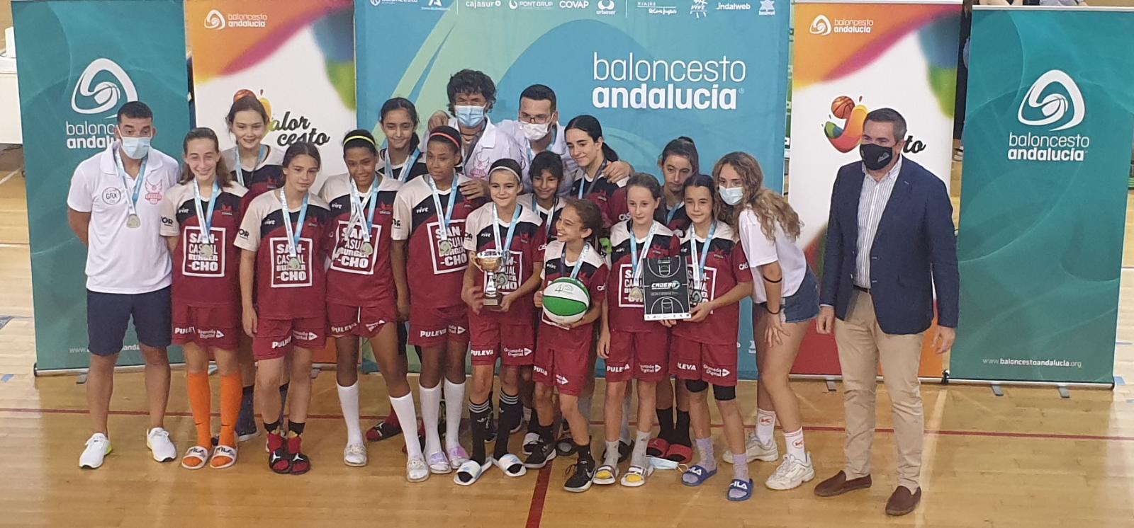 «Siempre fuertes»: buen papel del «Casual Sancho» en  el Campeonato de Andalucía de Minibasket Femenino