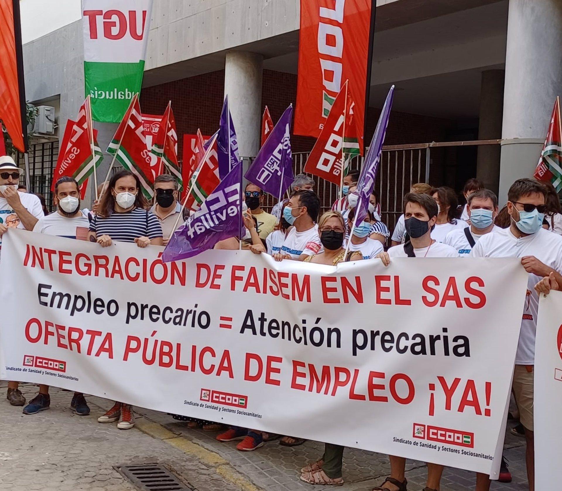 CCOO destaca la «amplia participación» en la concentración contra la temporalidad laboral en Faisem
