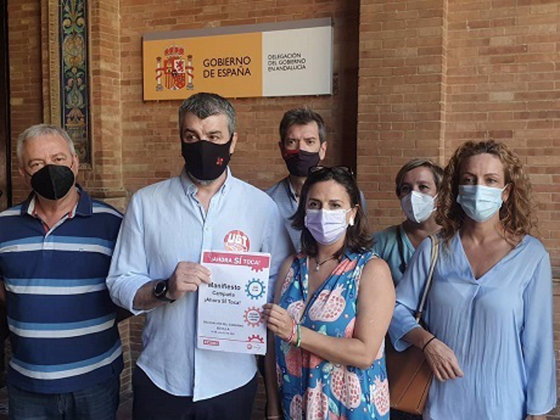 UGT y CCOO Andalucía insisten al Gobierno en que suba el SMI y deroge la reforma laboral de 2012