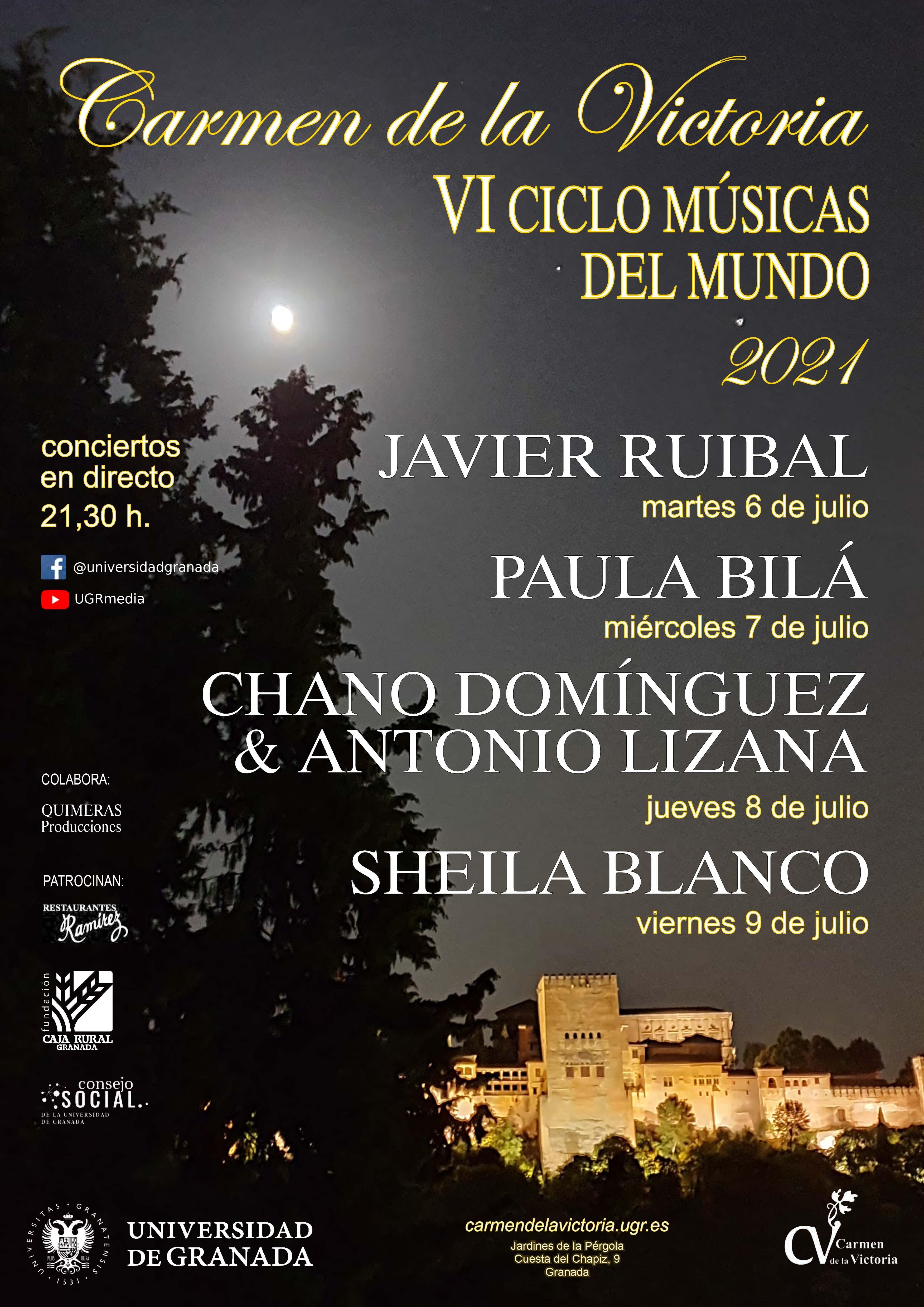 """Comienza el VI Ciclo """"Músicas del Mundo"""" en el Carmen de la Victoria de la UGR"""