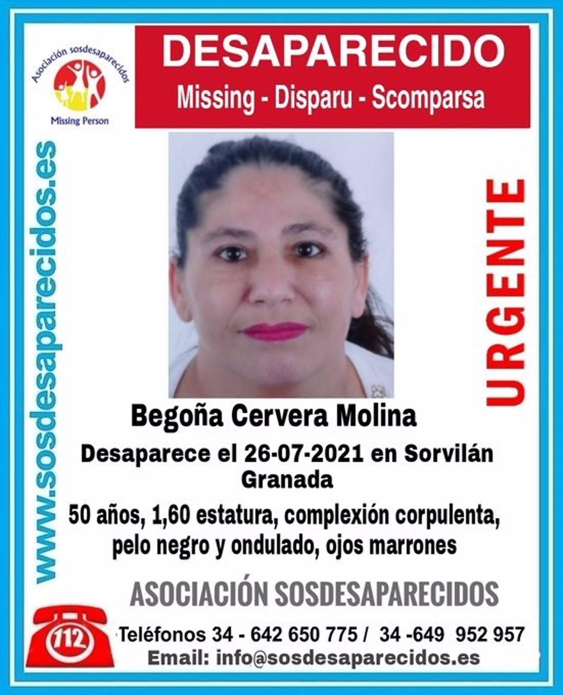 Buscan por tierra, mar y aire a la mujer de Sorvilán desaparecida desde finales de julio
