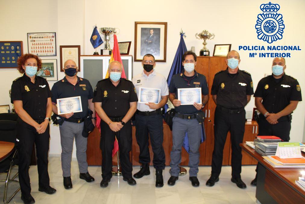 La Policía Nacional en Granada despide a los Policías de Italia y Francia que han patrullado Granada este verano