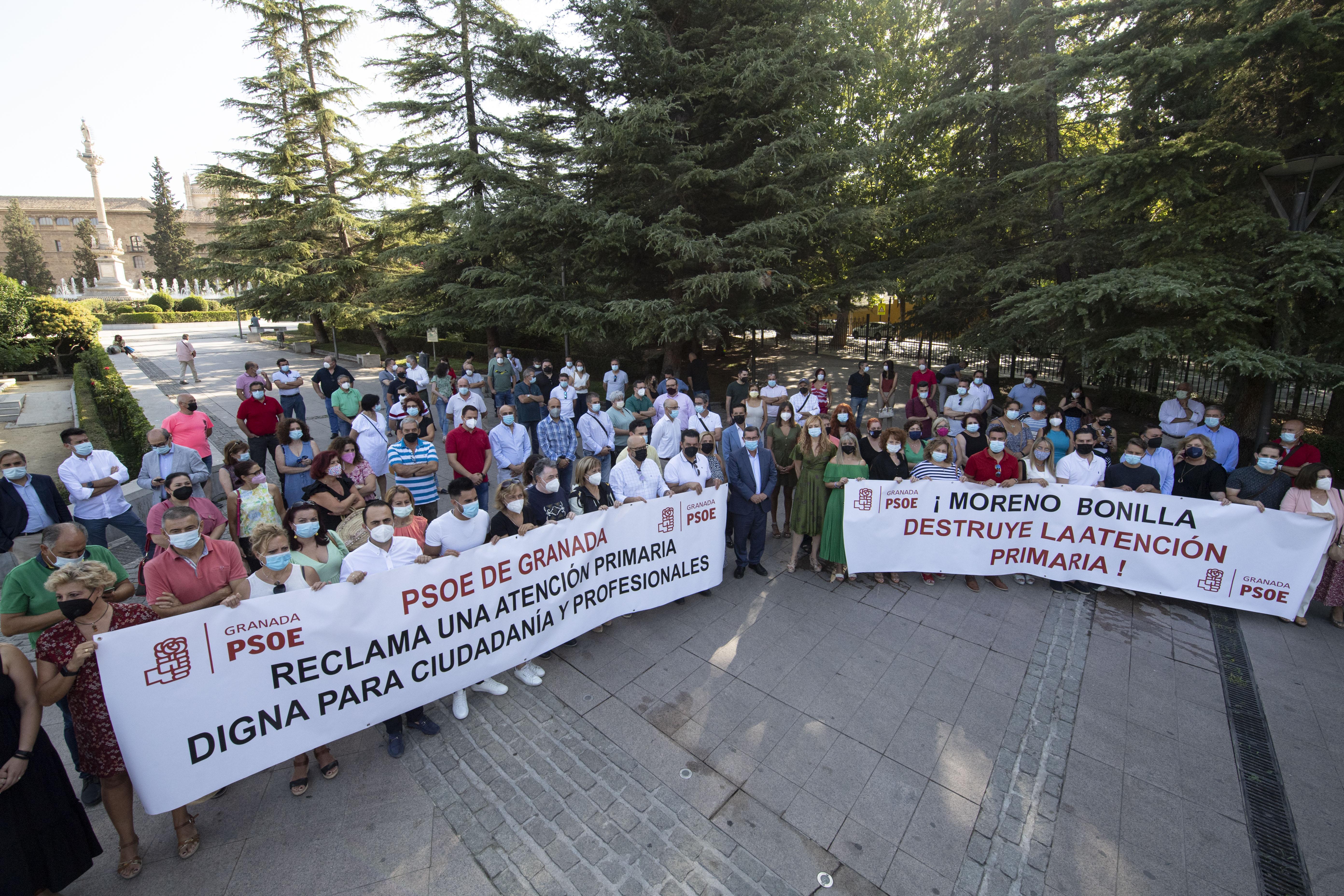 """Alcaldes y portavoces socialistas reclaman a la Junta acabar con el """"deterioro"""" de la atención sanitaria en la provincia"""