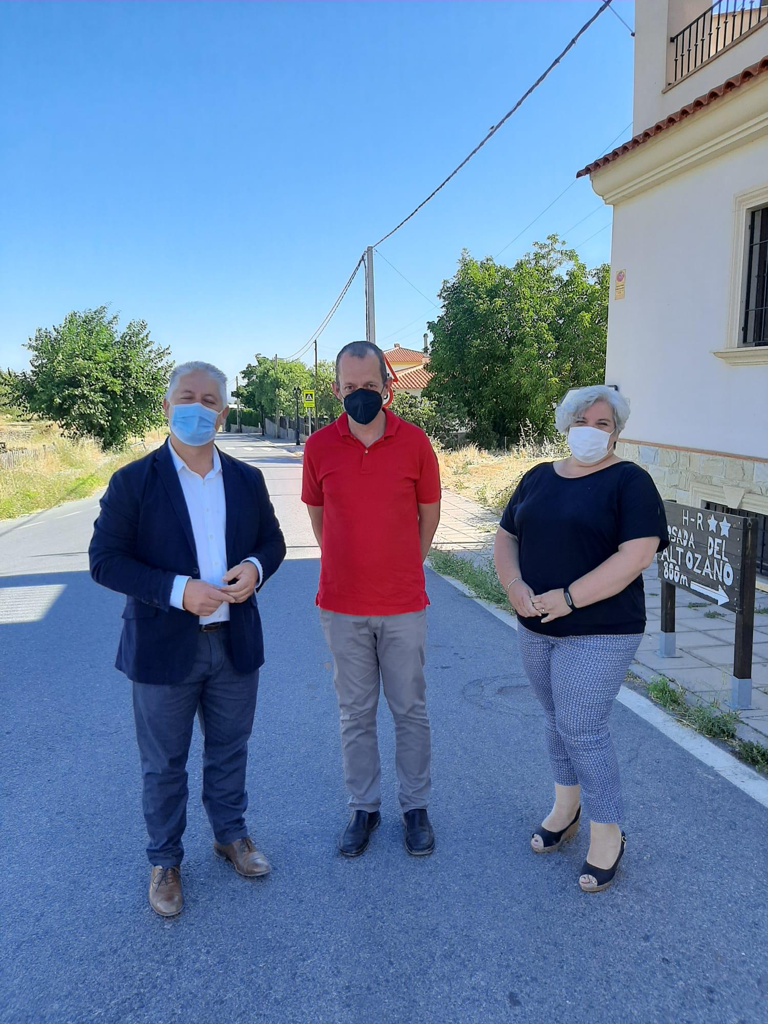 Diputación ensanchará la carretera que conecta Lanteira con Alquife