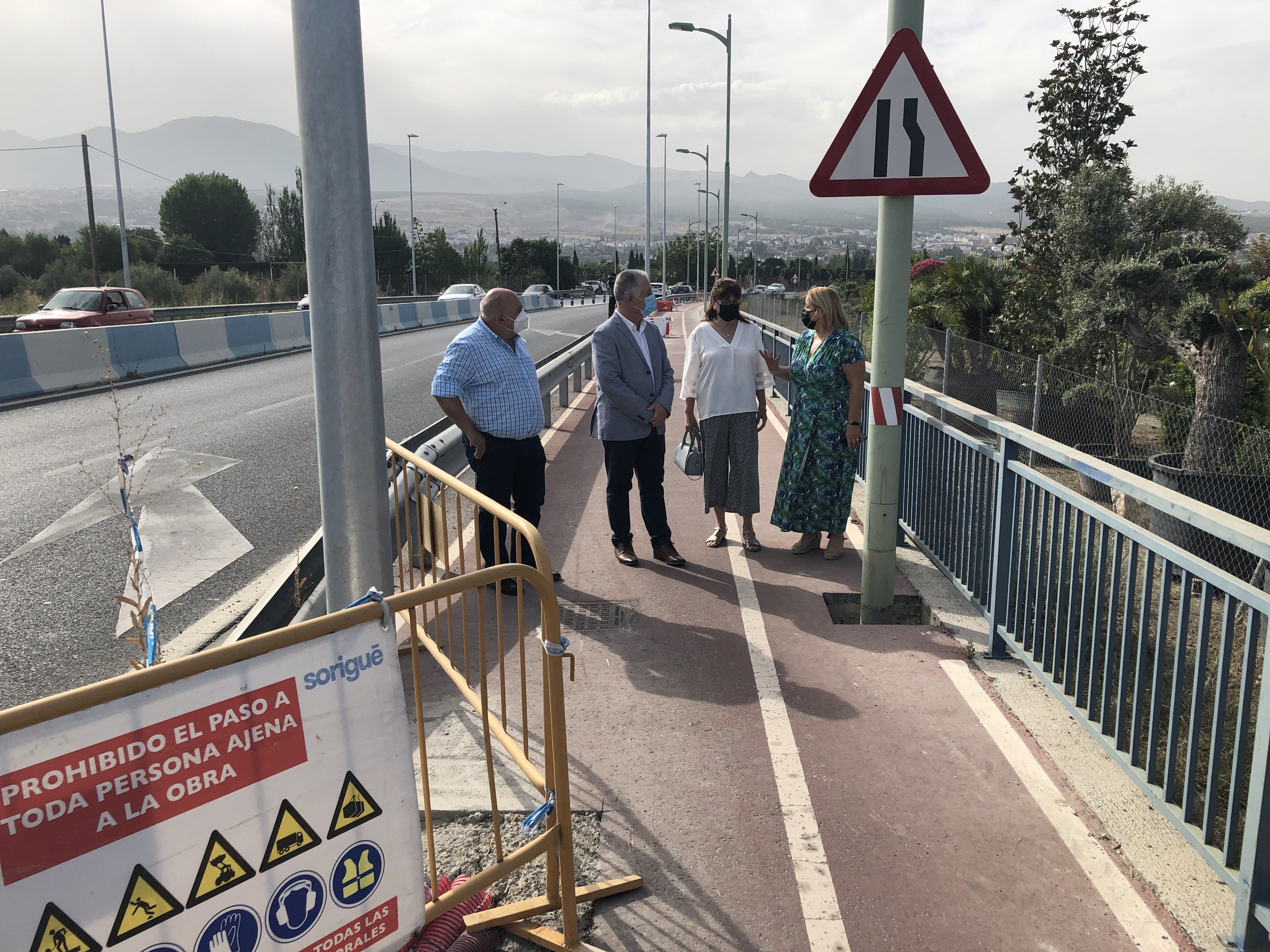 Diputación ultima las obras de mejora de la iluminación y la seguridad vial en la carretera de La Zubia