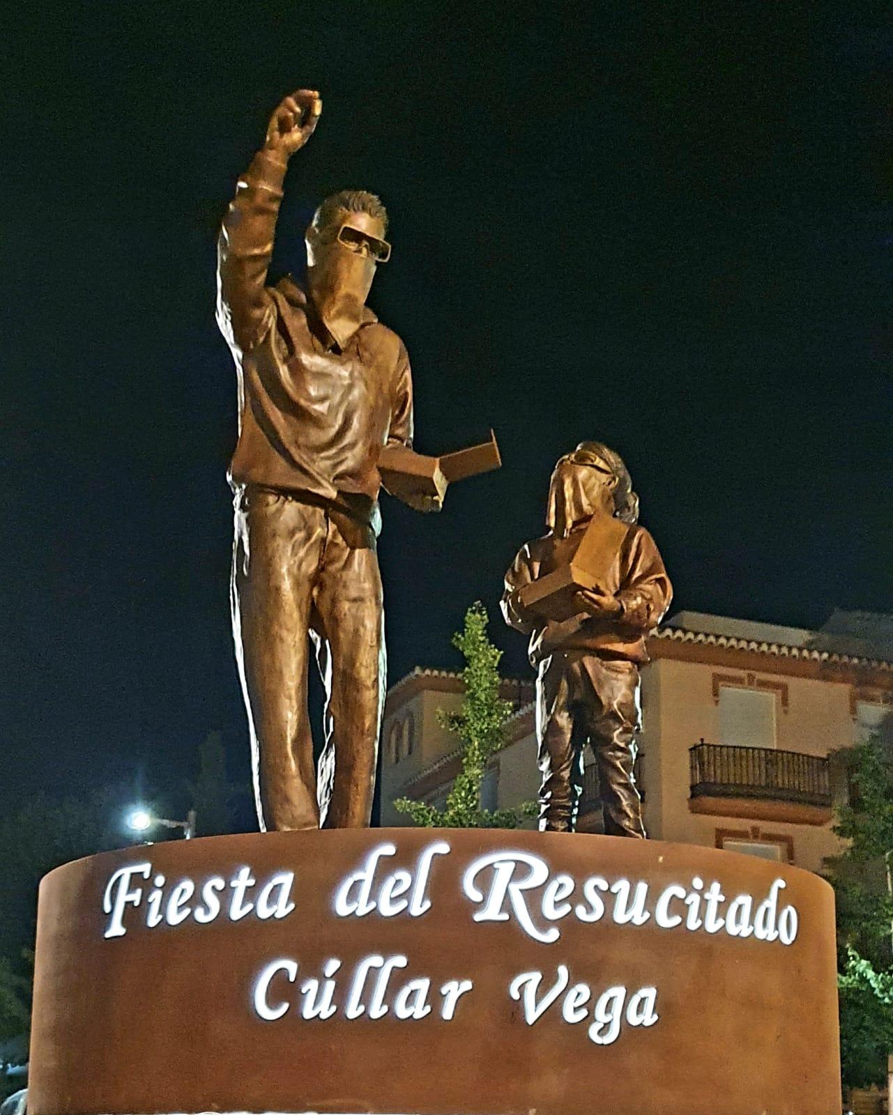 Cúllar Vega dedica un monumento a la Procesión del Resucitado