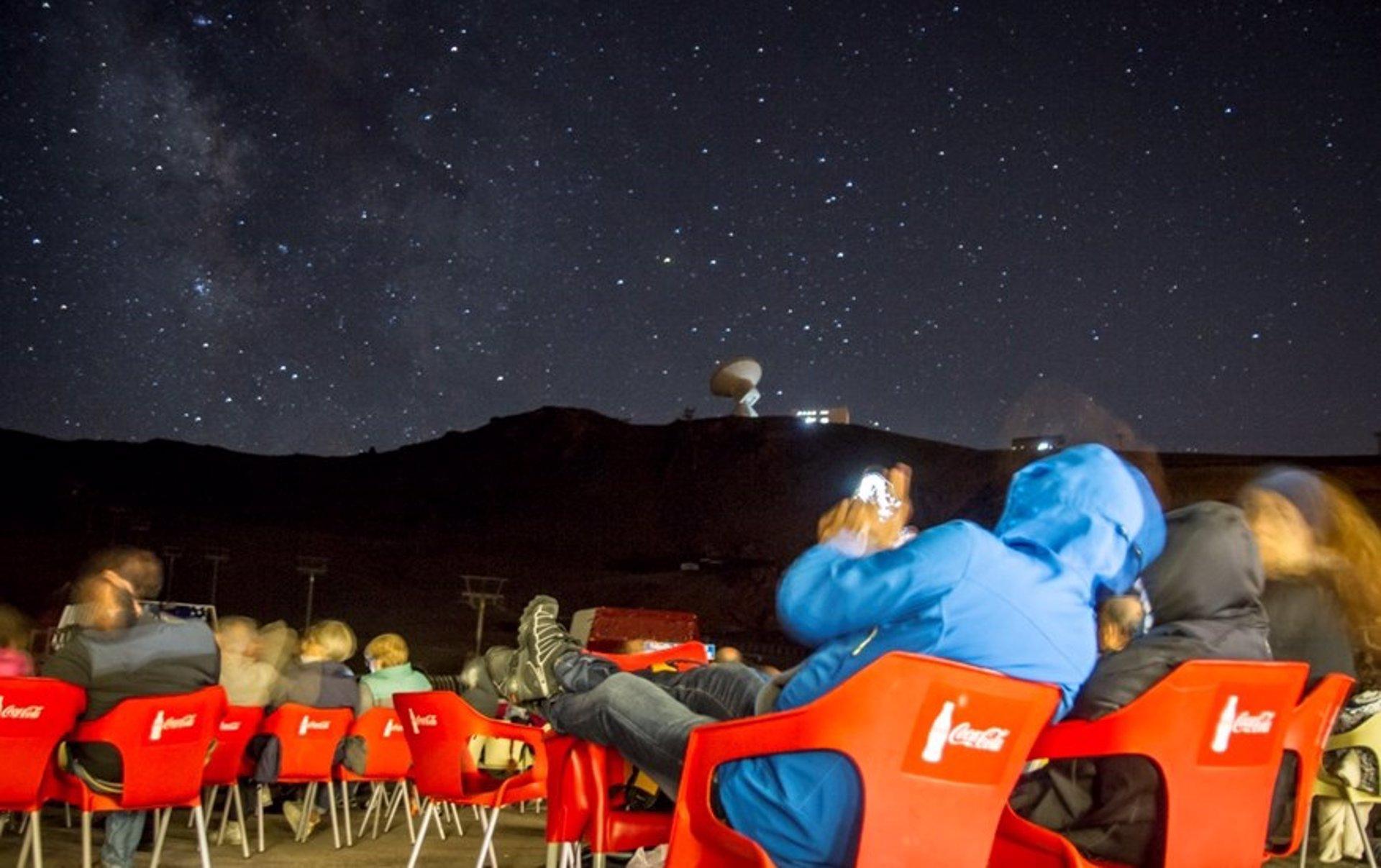 Sin plazas para la subida nocturna del telecabina para la observación de las perseidas en Sierra Nevada