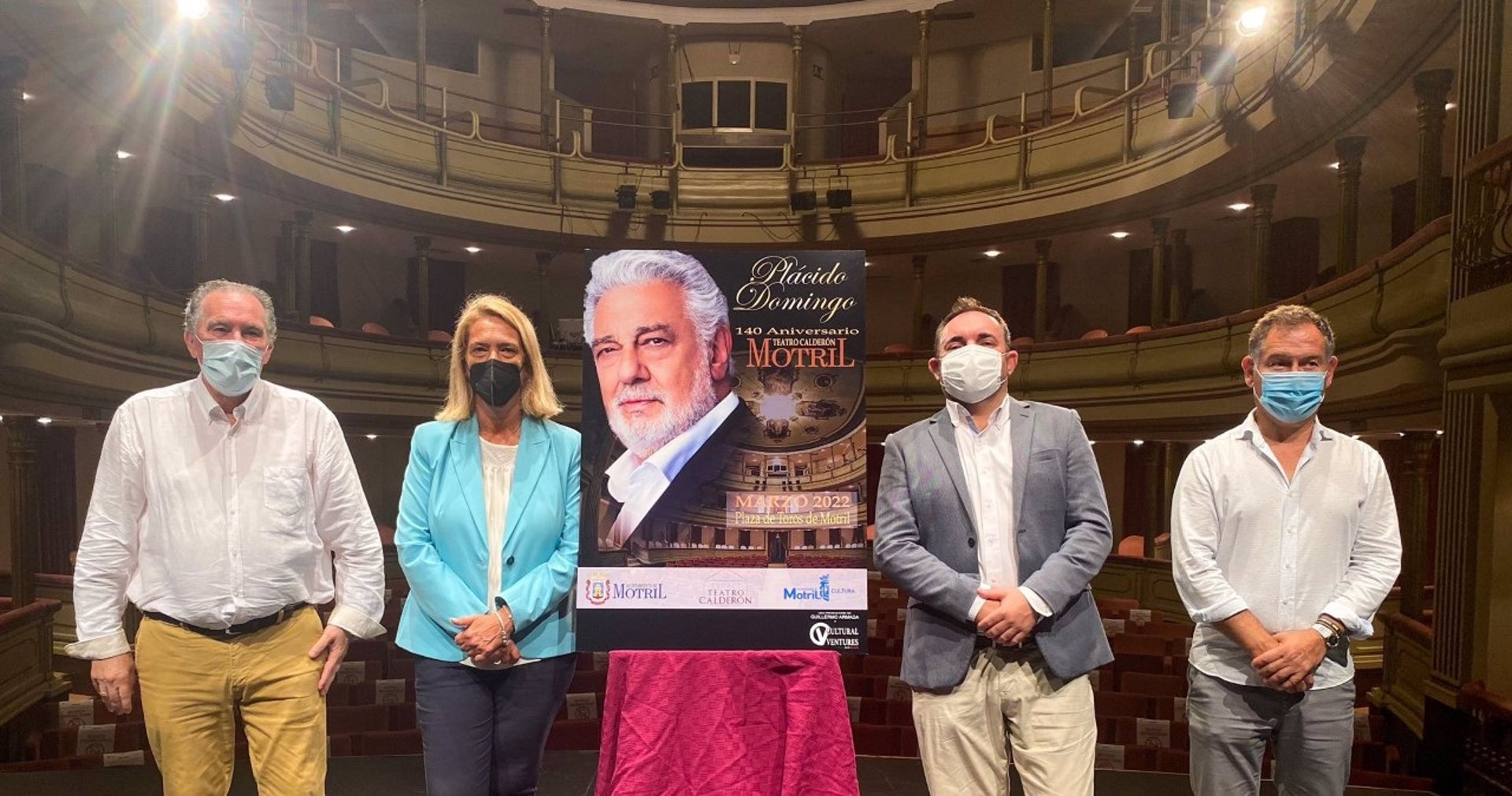 Motril acogerá un concierto de Plácido Domingo por el aniversario del Teatro Calderón