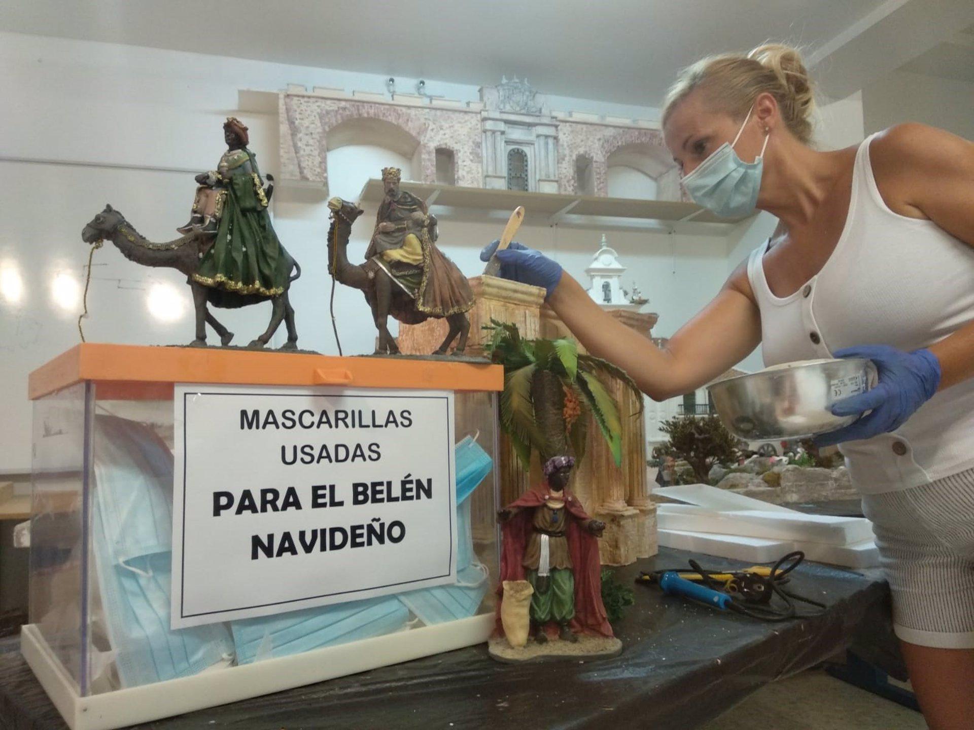 Huétor Tájar reciclará las mascarillas usadas para su belen