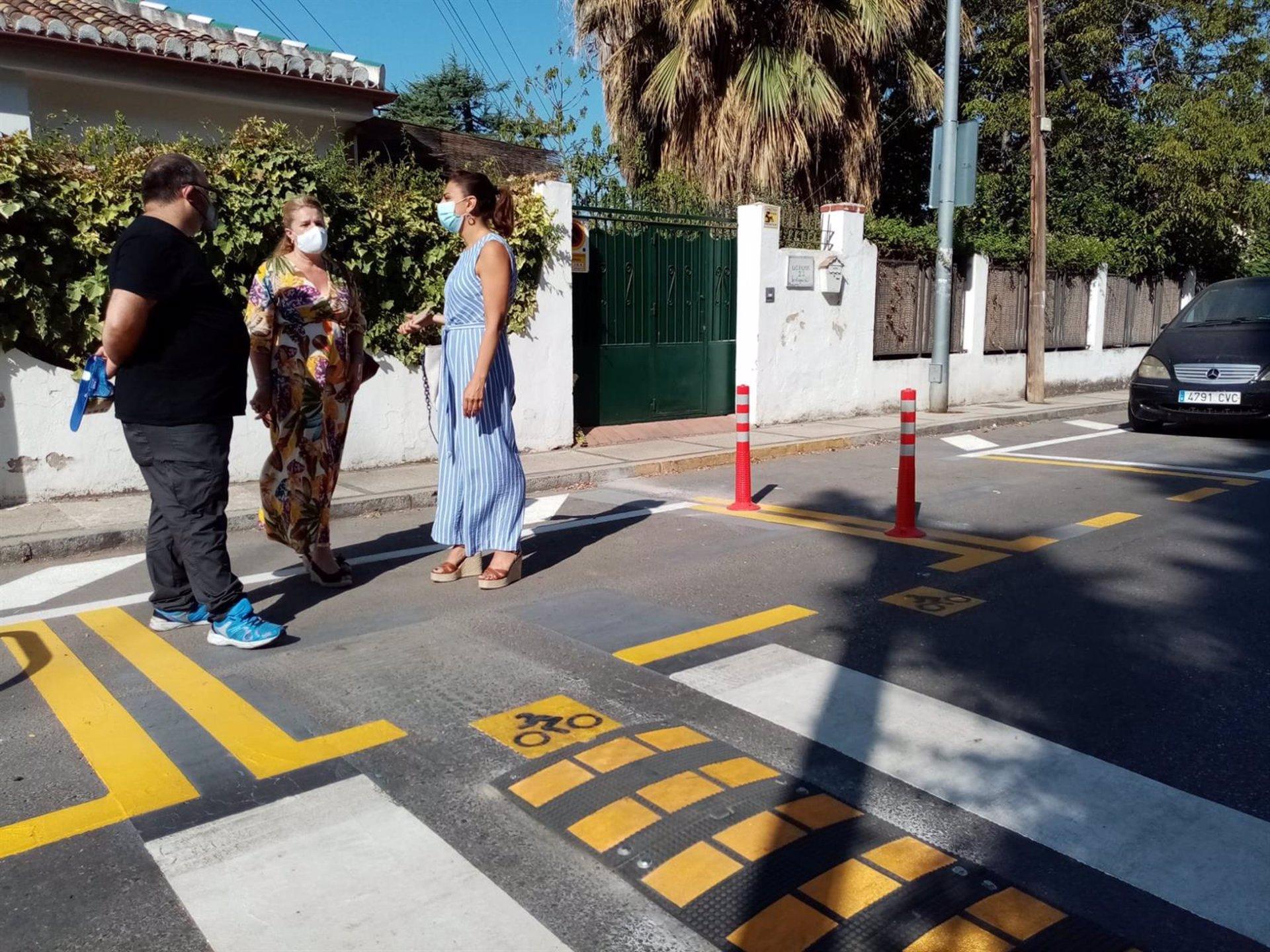 El Ayuntamiento mejora la accesibilidad del Paseo de las Palmas con nueva señalética horizontal