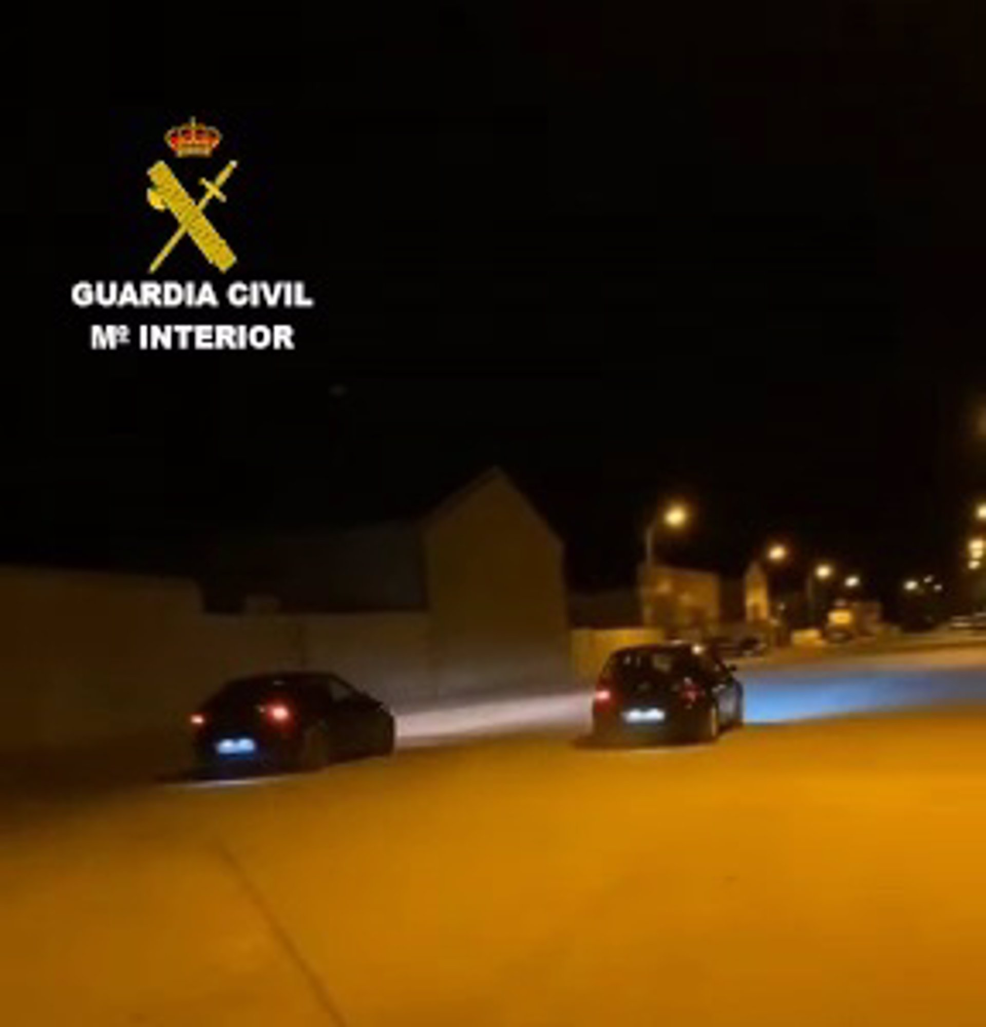 La Guardia Civil denuncia a los responsables de una carrera ilegal de coches en un polígono de Huéscar