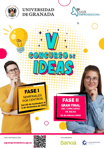 El V Concurso de Ideas de la UGR busca los mejores proyectos emprendedores de la comunidad universitaria