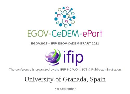 El congreso EGOV-CeDEM-ePart 2021 sobre gobierno electrónico se celebra en la Universidad de Granada