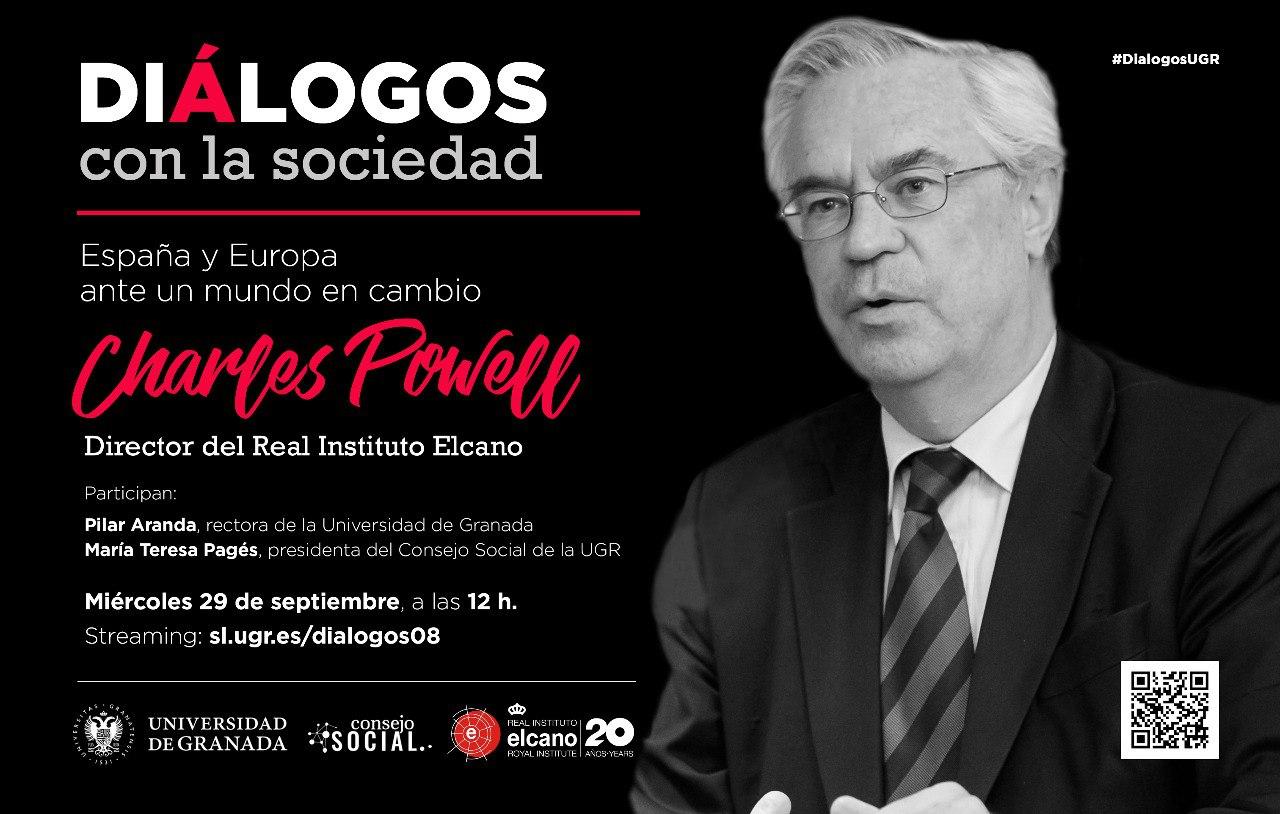 """El director del Real Instituto Elcano, Charles Powell, participa en el ciclo """"Diálogos con la Sociedad"""" del Consejo Social de la UGR"""