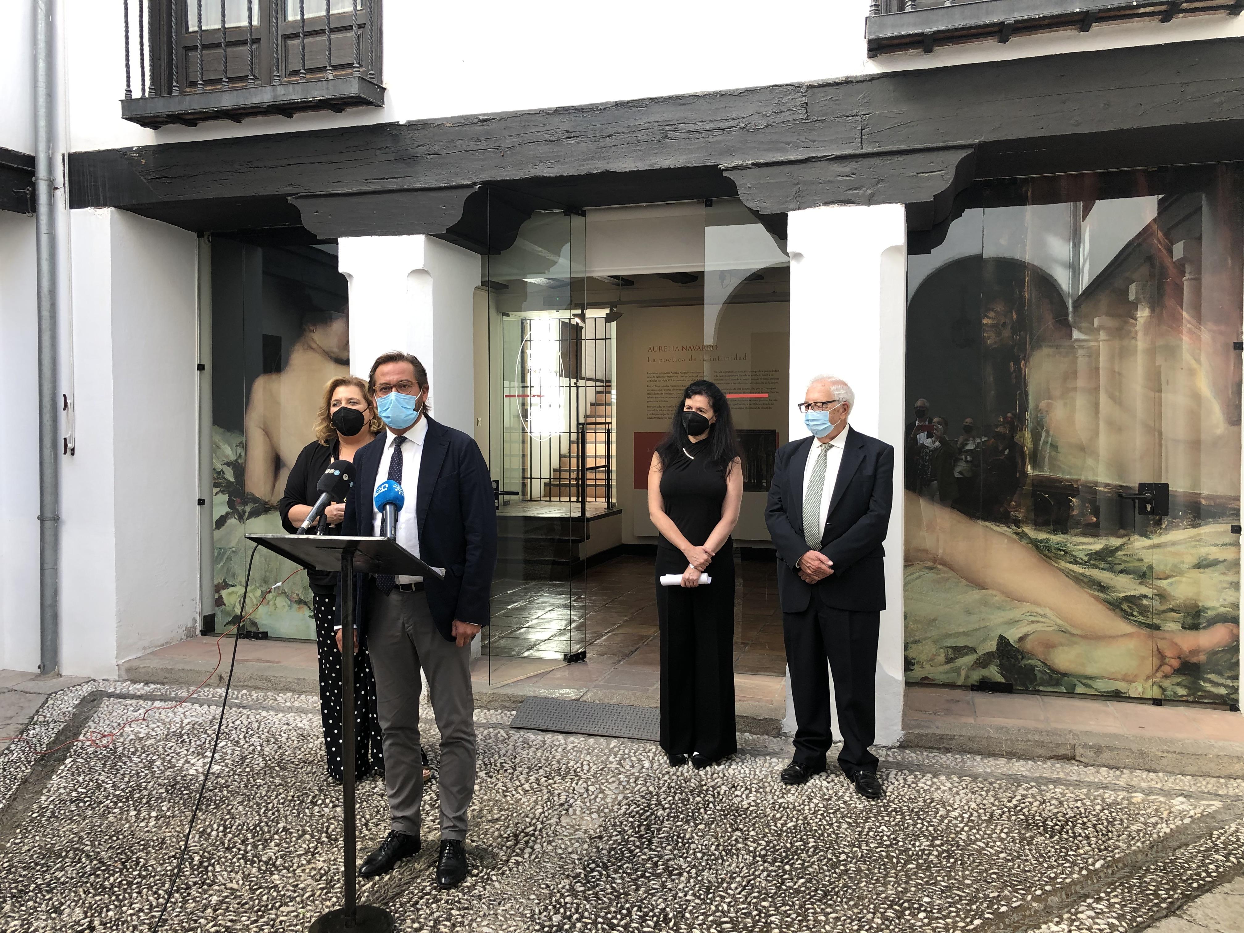La Consejería de Cultura y Patrimonio Histórico inaugura la primera exposición monográfica dedicada a la figura y la obra de Aurelia Navarro