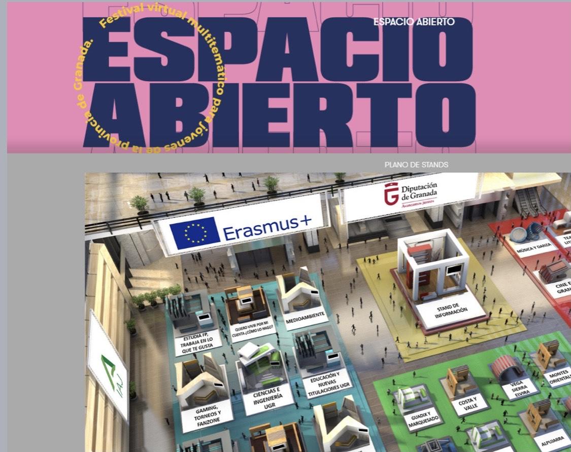 """ Arranca """"Espacio Abierto"""", el primer gran festival joven en formato virtual, organizado por la Diputación"""