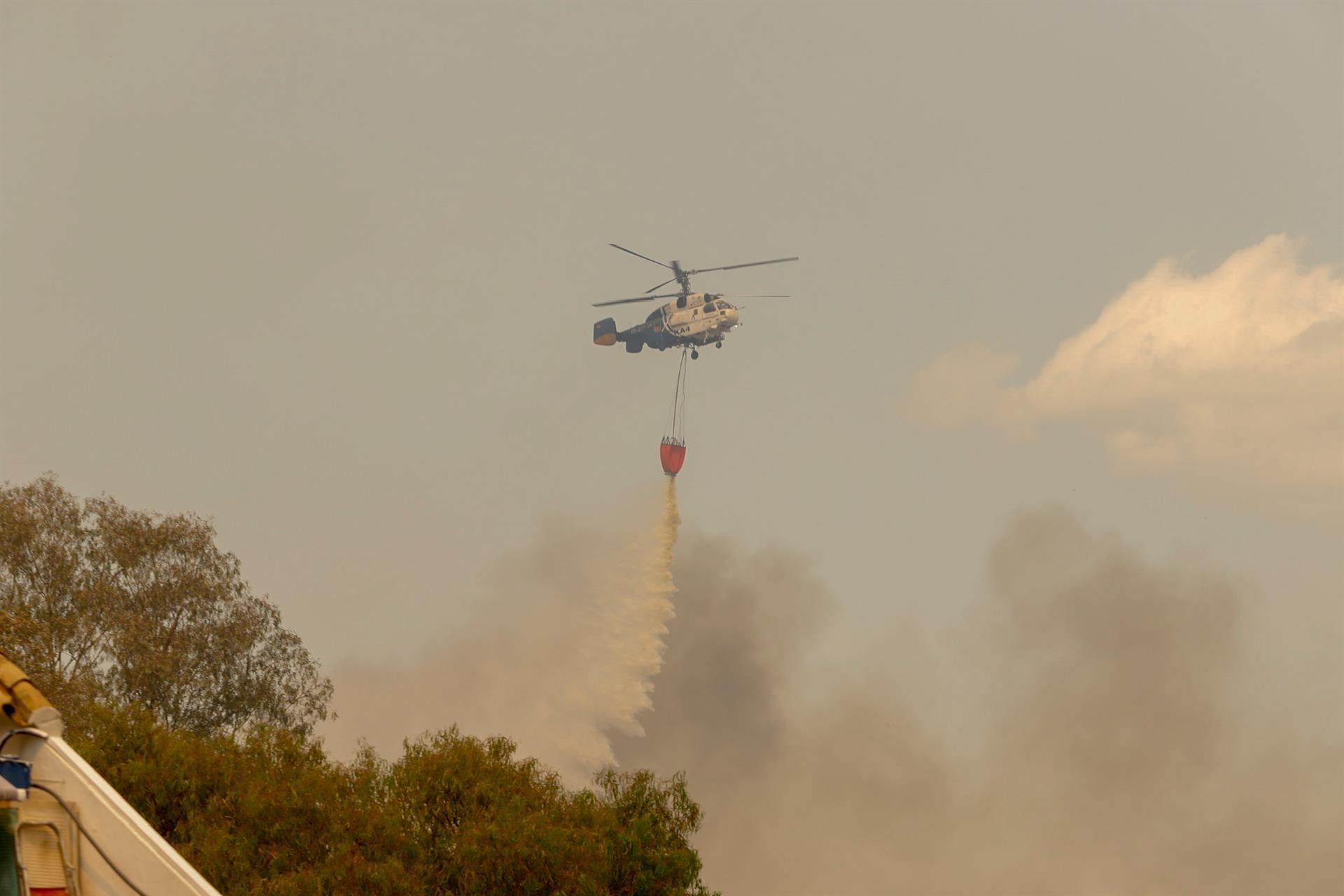 Elevado a nivel 2 del Plan Infoca el incendio en Sierra Bermeja