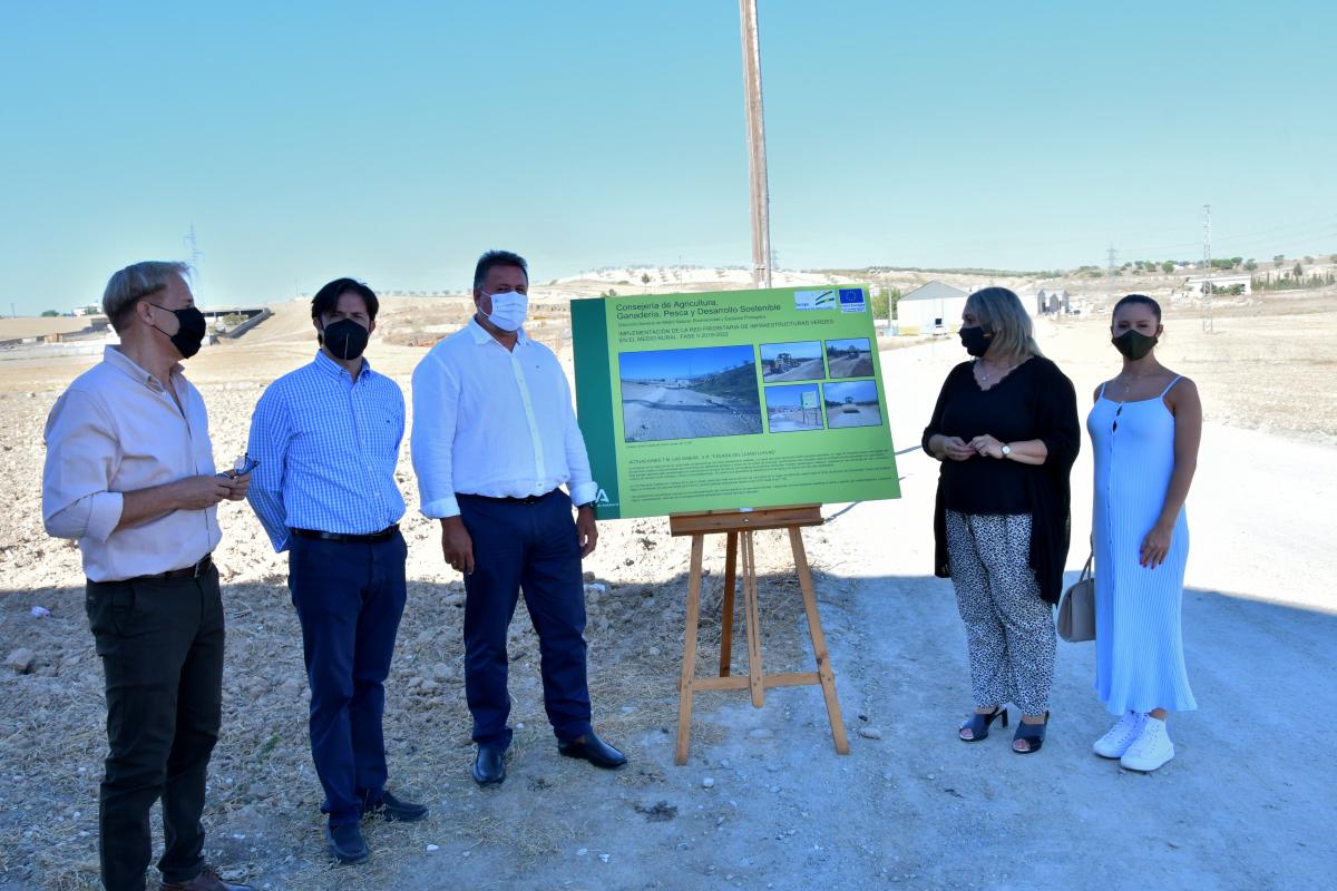La vía pecuaria Colada del Llano de Llevas en Las Gabias queda acondicionada como infraestructura de uso público
