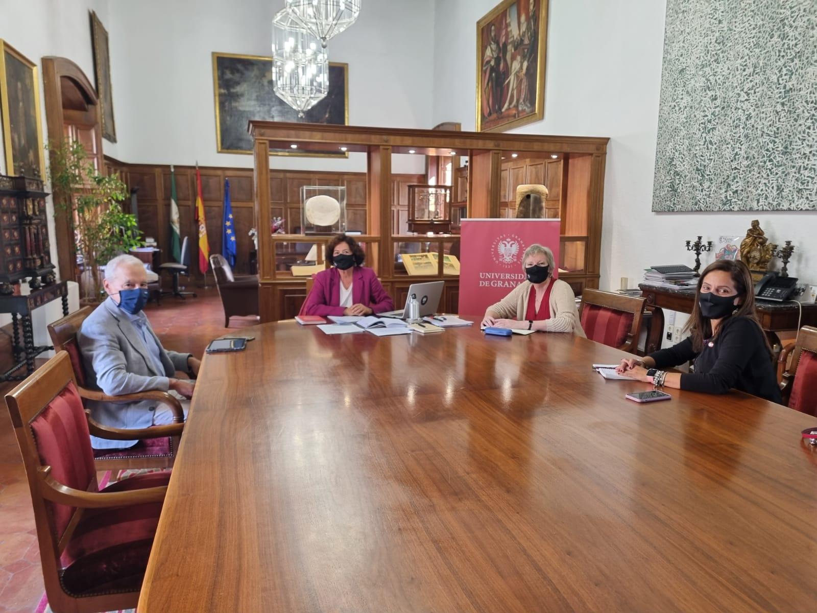 La rectora Pilar Aranda y el rector de la Università degli Studi Internazionali di Roma y presidente de Unimed, refuerzan lazos de colaboración institucional