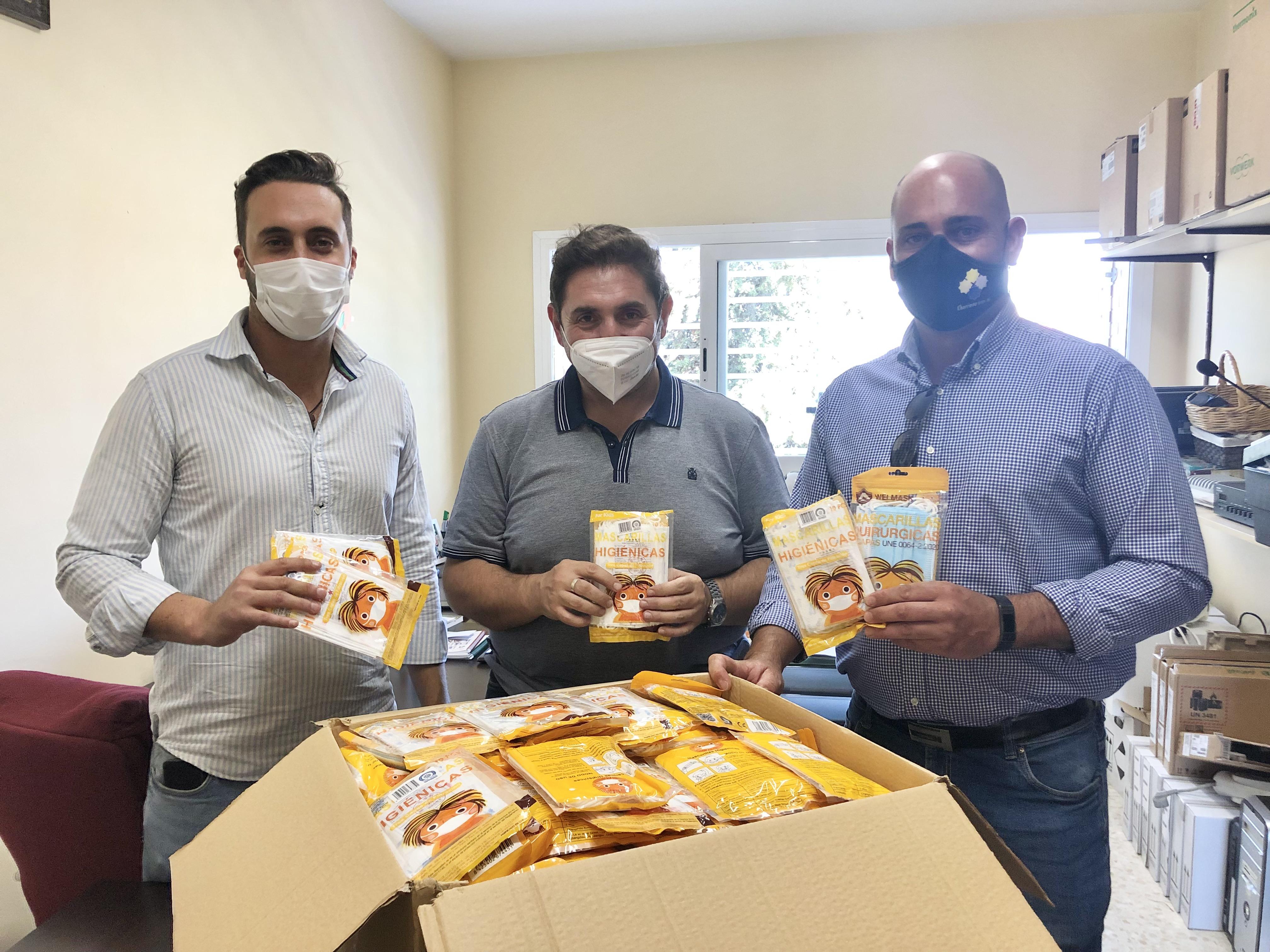 El Ayuntamiento de Churriana facilita 40.000 mascarillas a los centros educativos